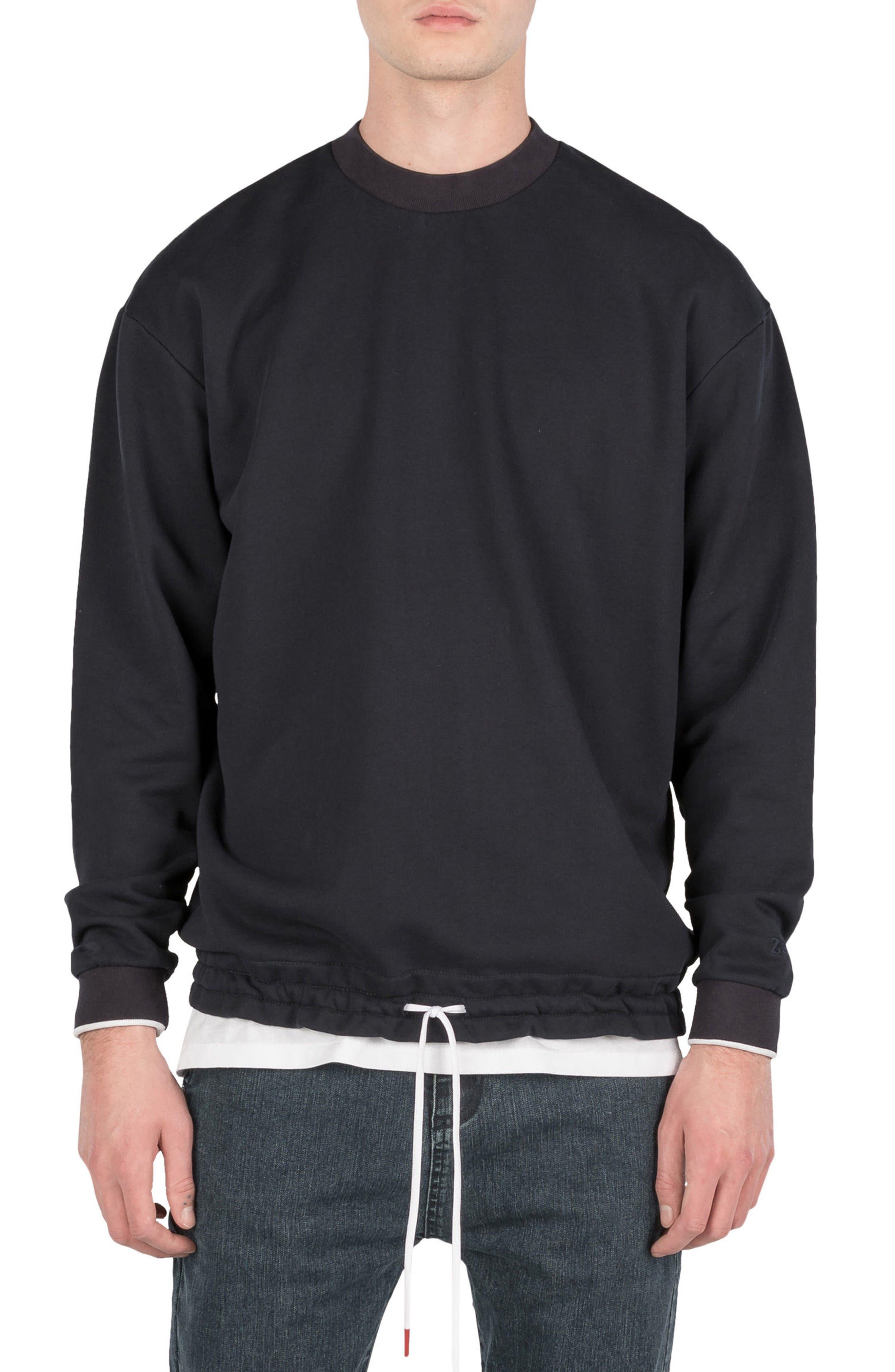 Box Sweatshirt,                         Main,                         color, Navy