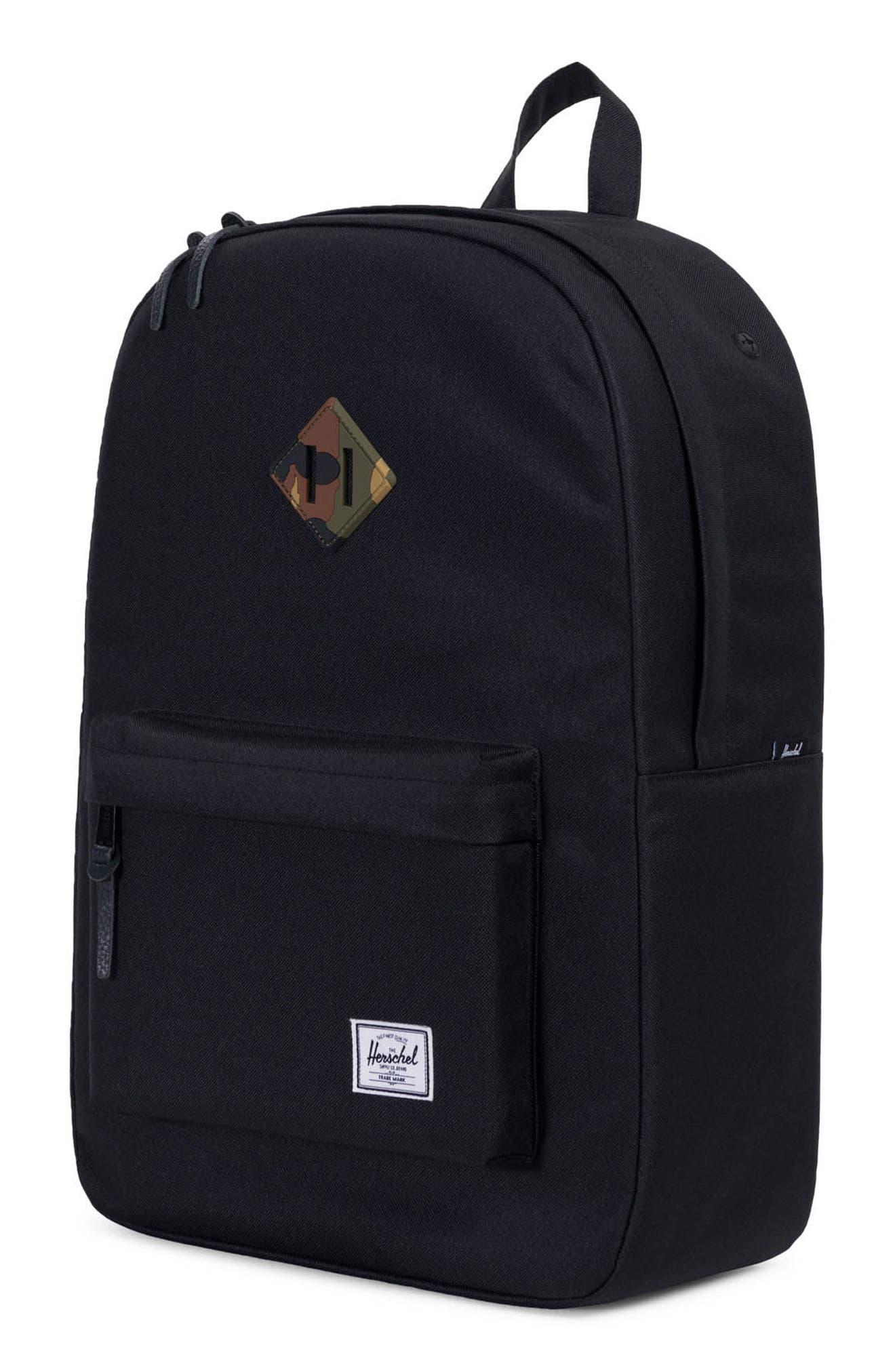 Heritage Reflective Backpack,                             Alternate thumbnail 4, color,                             Black/ Woodland Camo