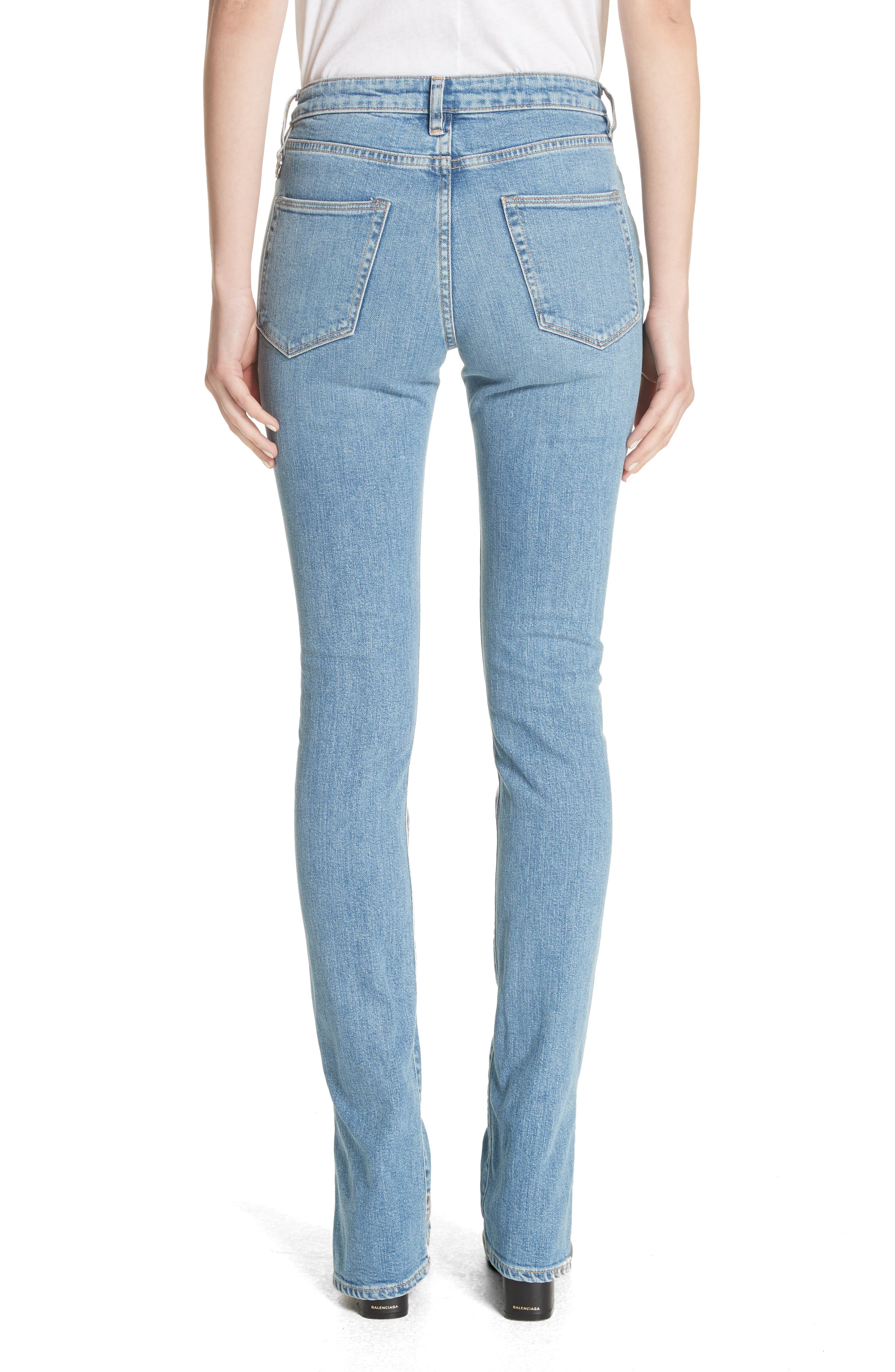 Lowry Split Hem Jeans,                             Alternate thumbnail 2, color,                             Mid Indigo Wash