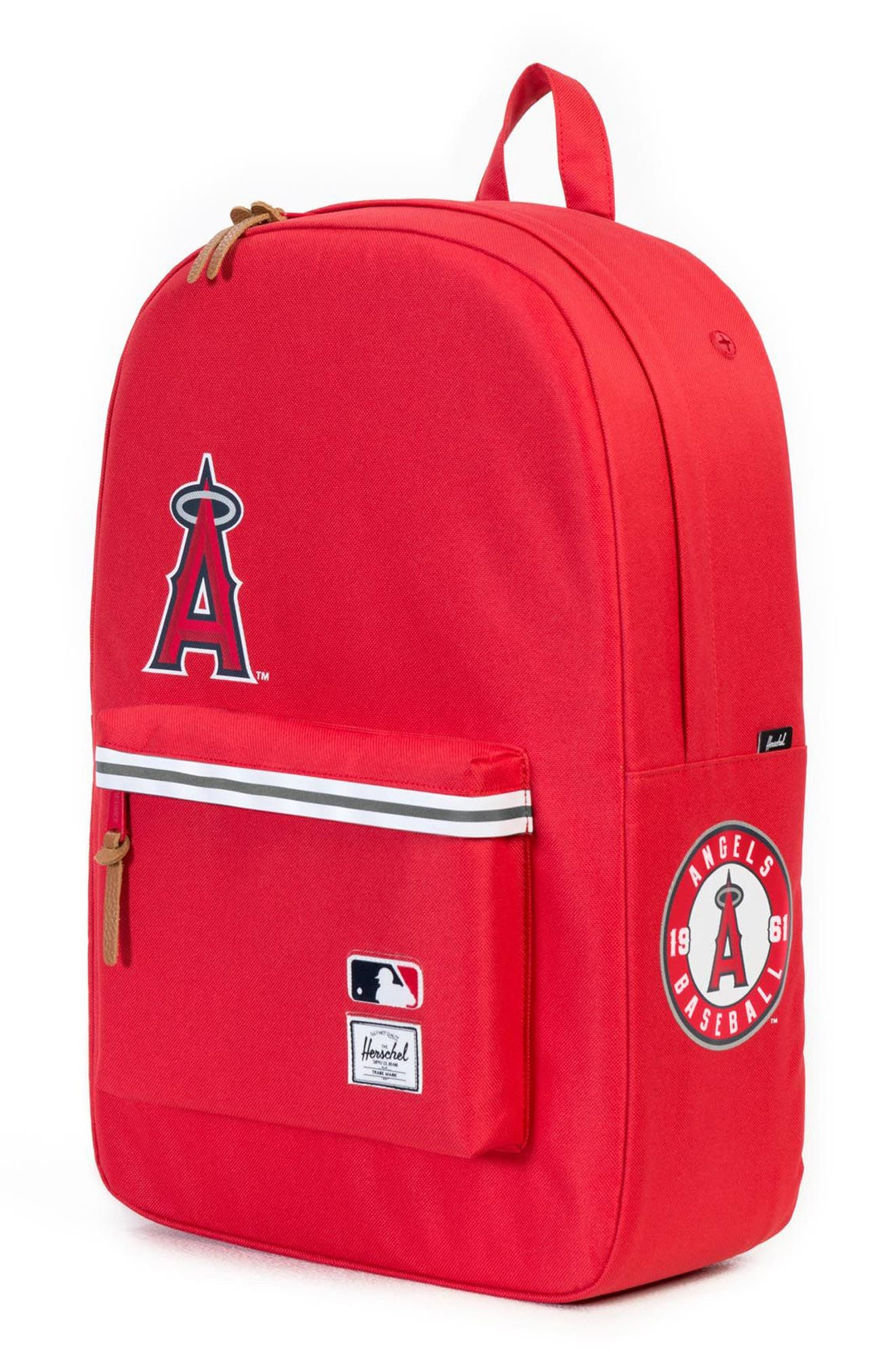 Heritage - MLB American League Backpack,                             Alternate thumbnail 4, color,                             Los Angeles Angels