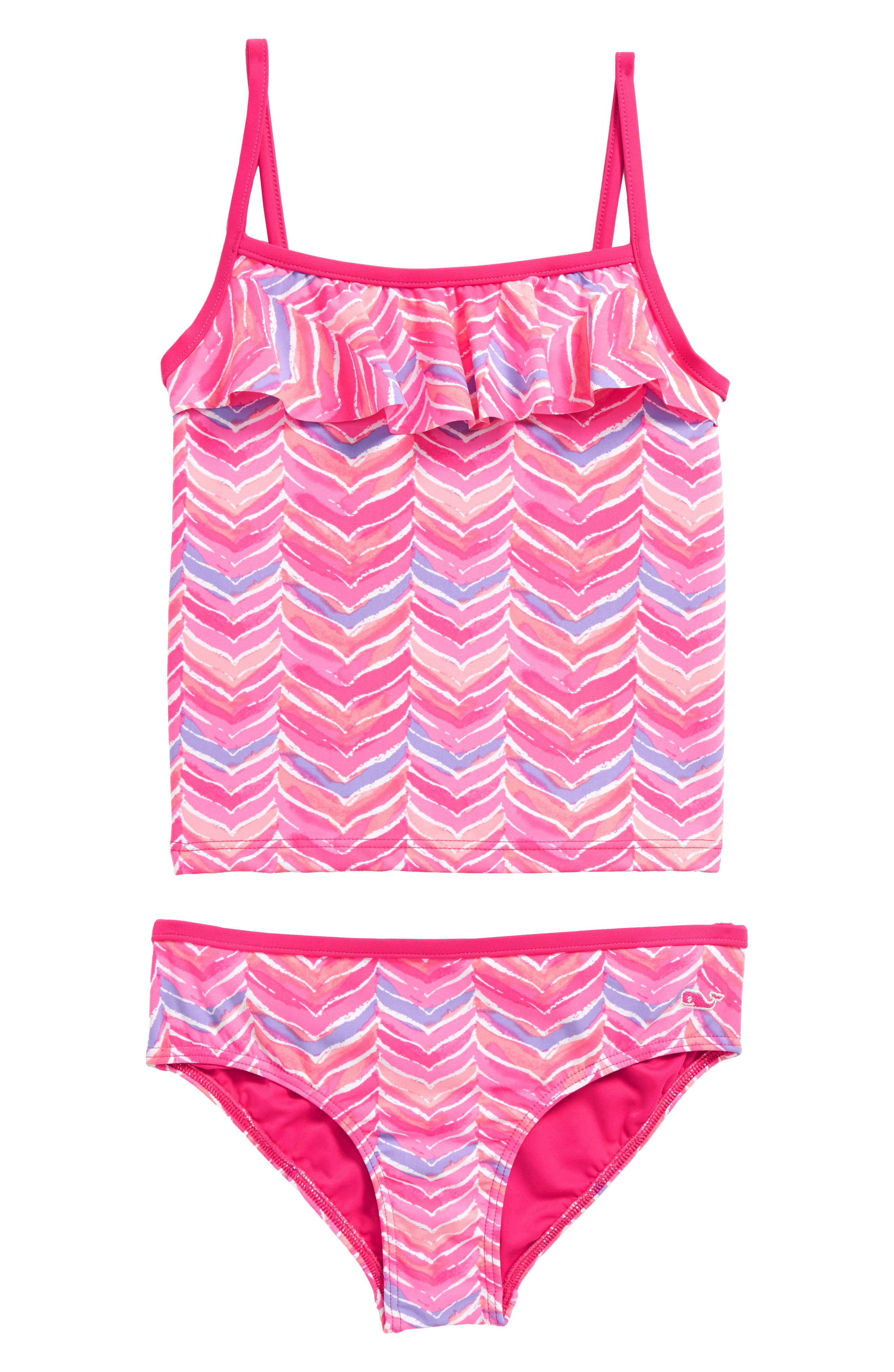 Whale Tail Two-Piece Tankini Swimsuit,                         Main,                         color, Pink Sherbet