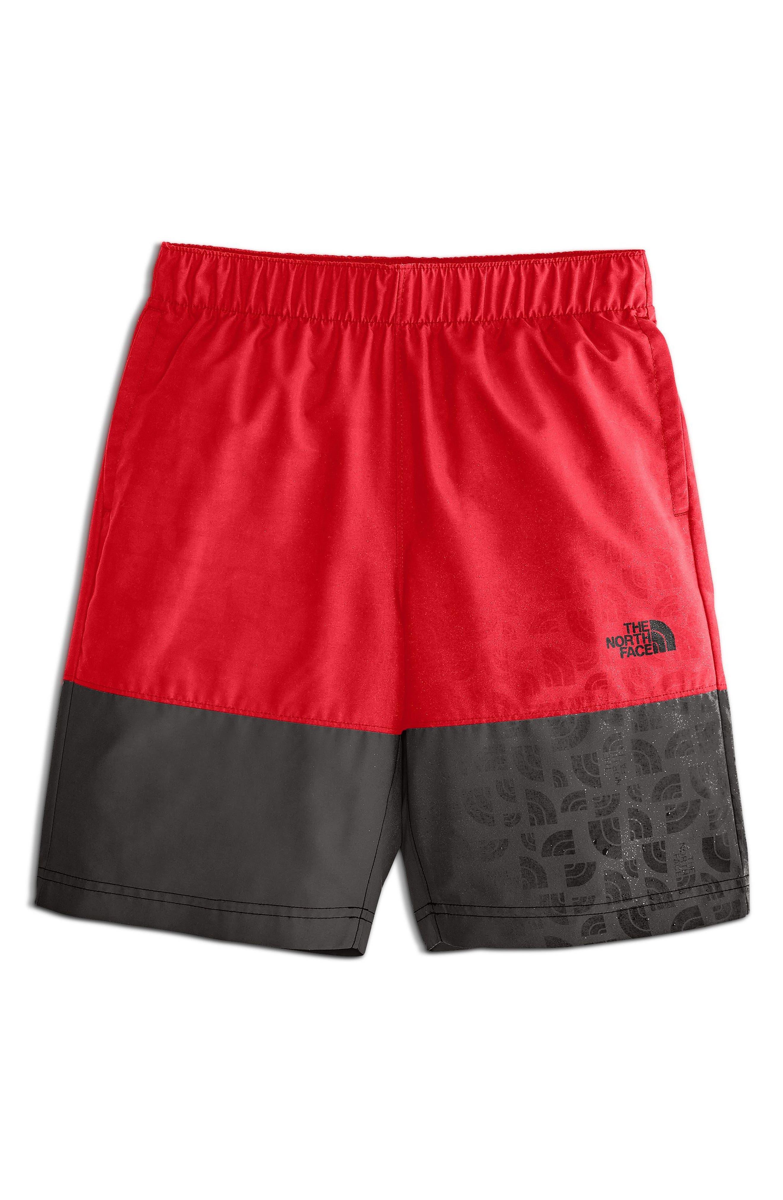 Swim Shorts,                             Main thumbnail 1, color,                             Tnf Red Logo Phantom Print