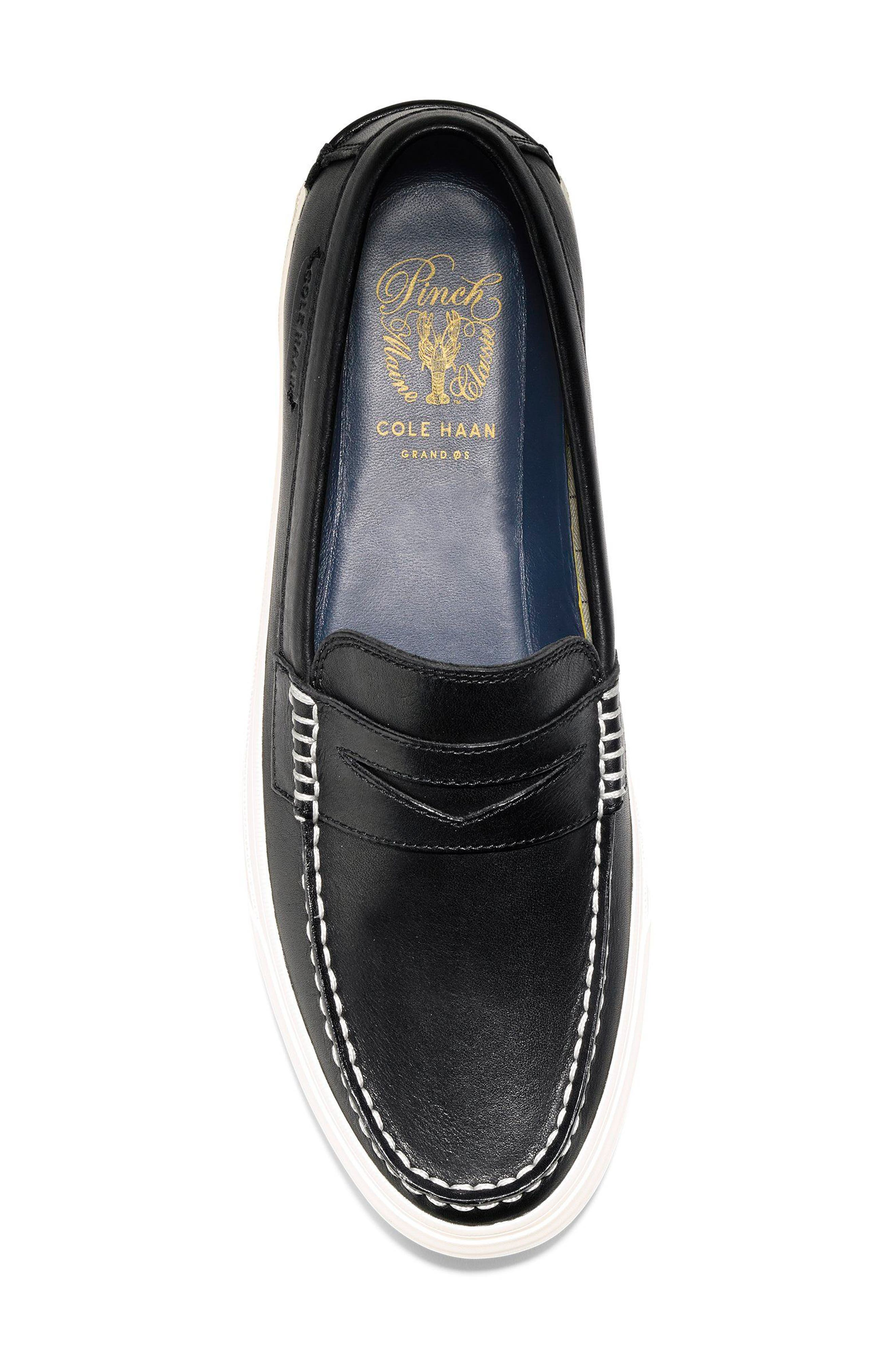 Pinch Weekend LX Penny Loafer,                             Alternate thumbnail 5, color,                             Black/ White