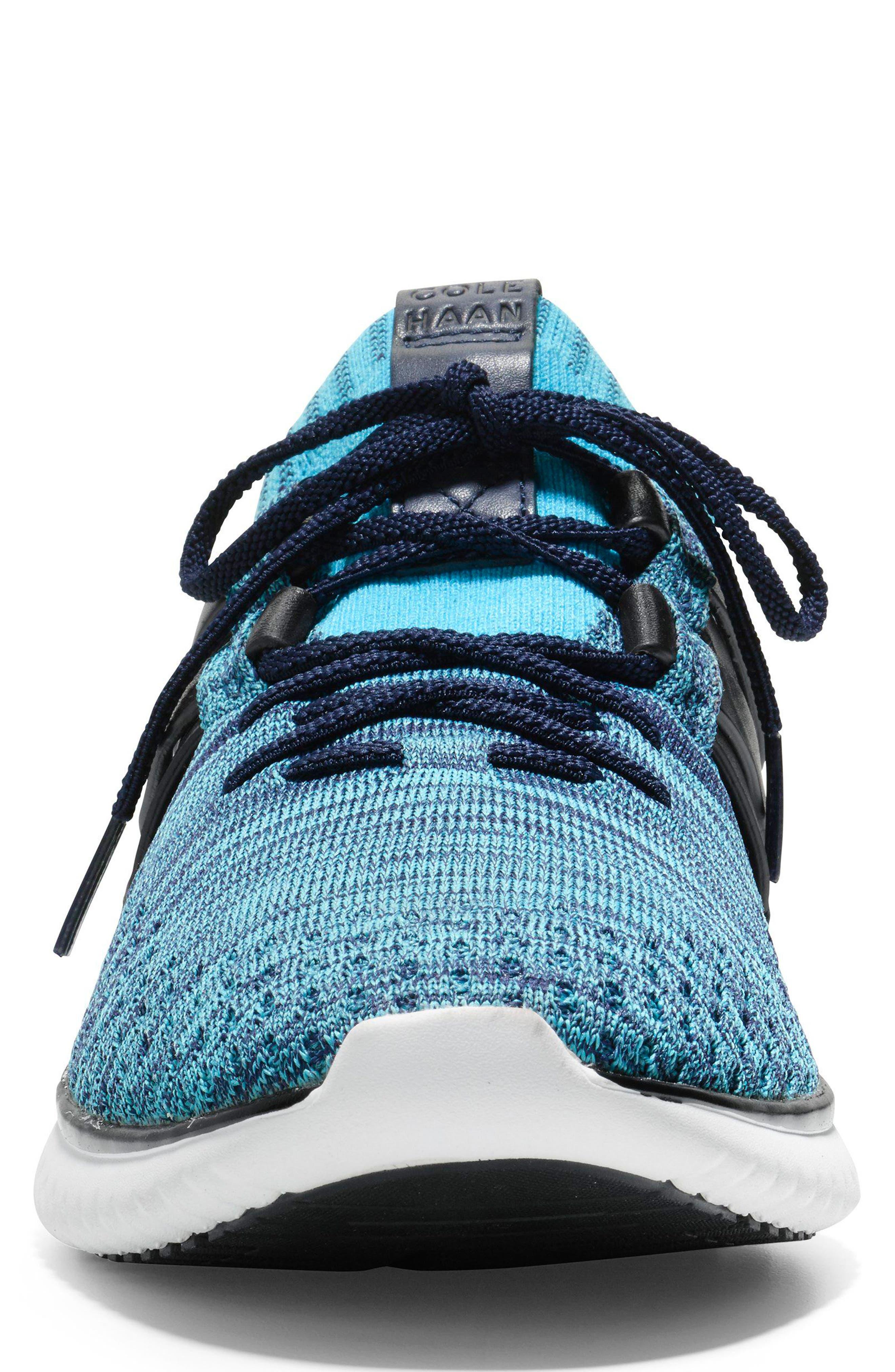 GrandMøtion Stitchlite<sup>™</sup> Woven Sneaker,                             Alternate thumbnail 4, color,                             Marine Blue