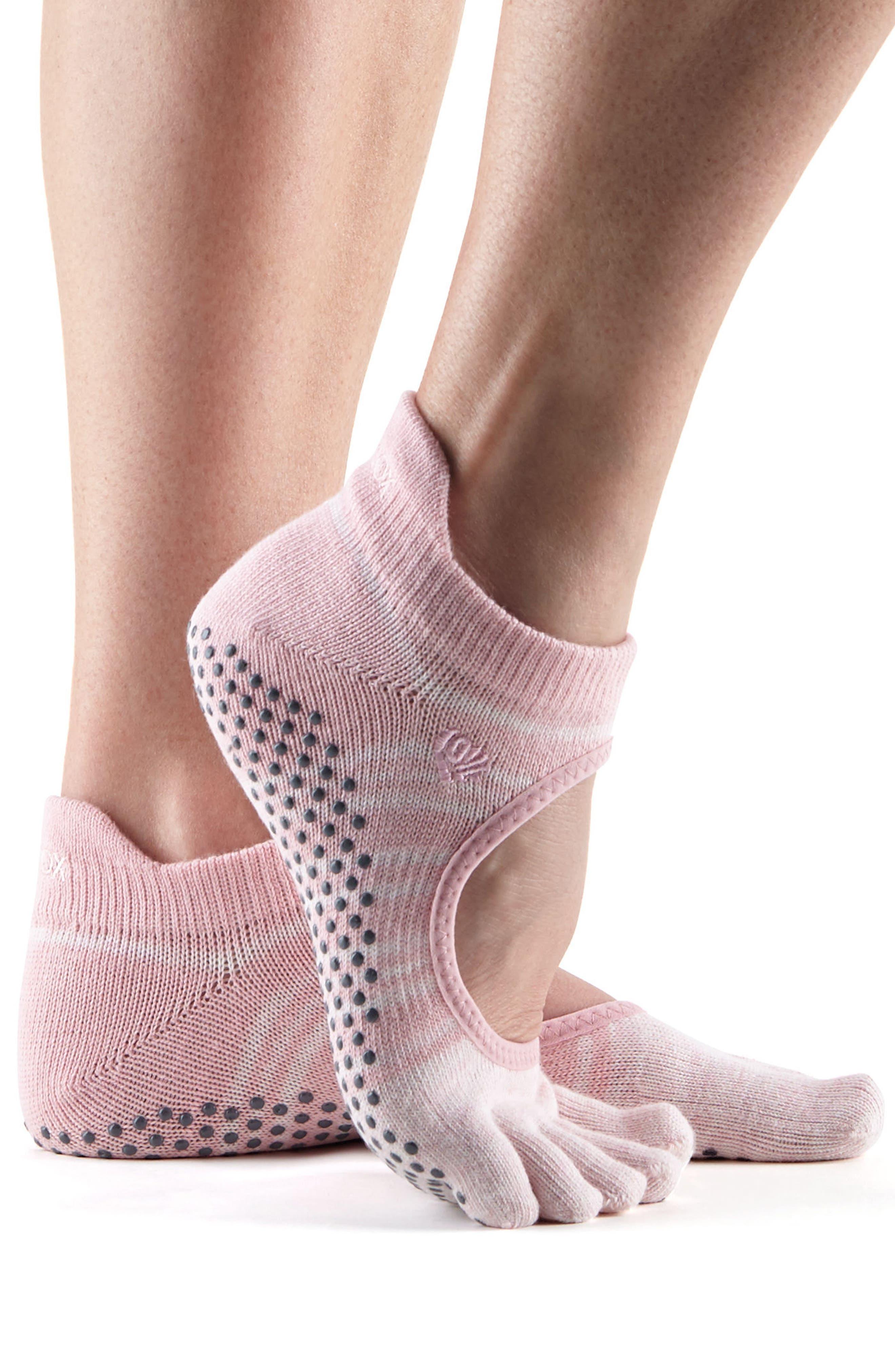 Alternate Image 4  - ToeSox Bellarina Full Toe Gripper Socks