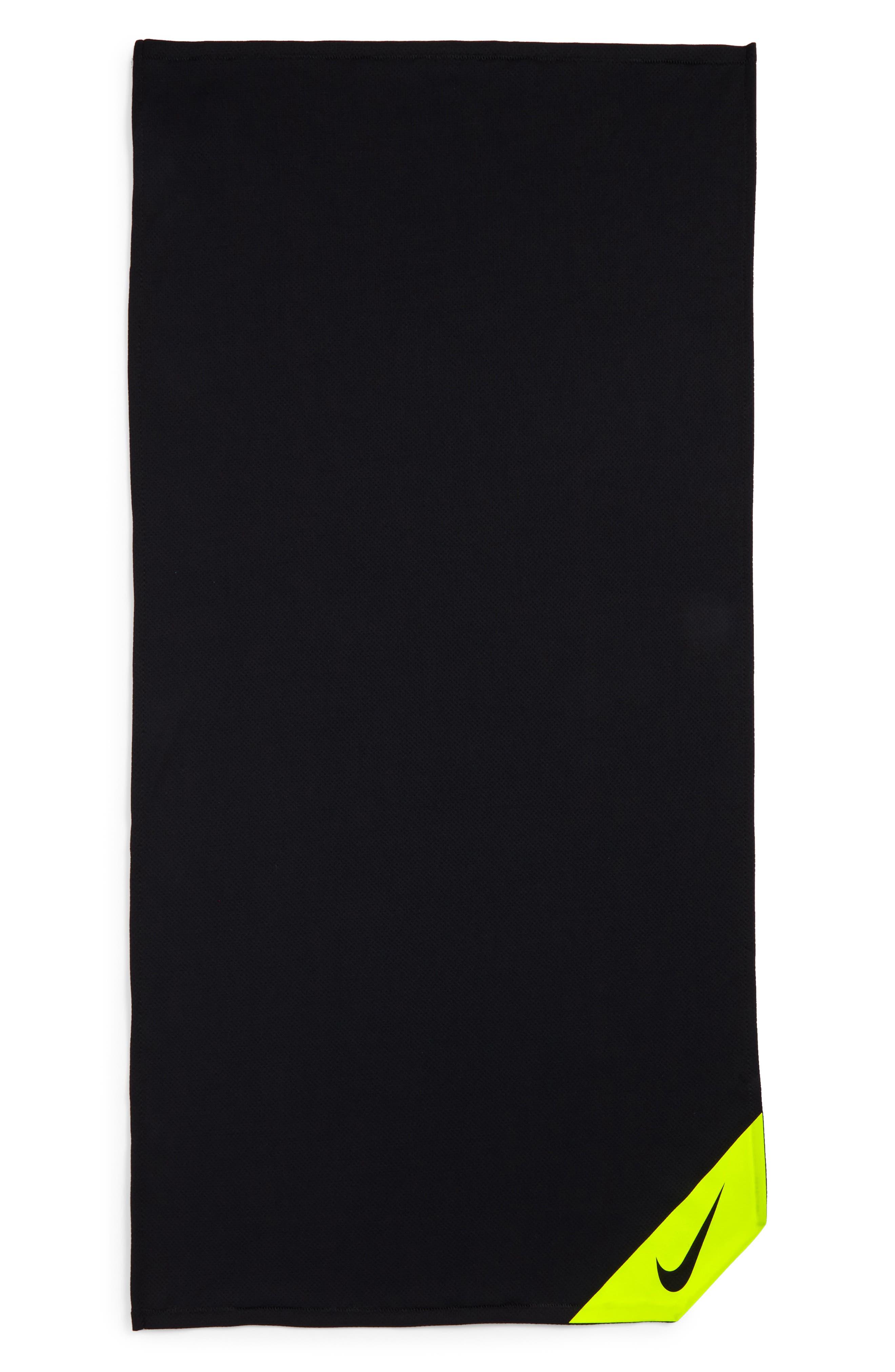 Small Cooling Towel,                             Main thumbnail 1, color,                             Black/ Volt