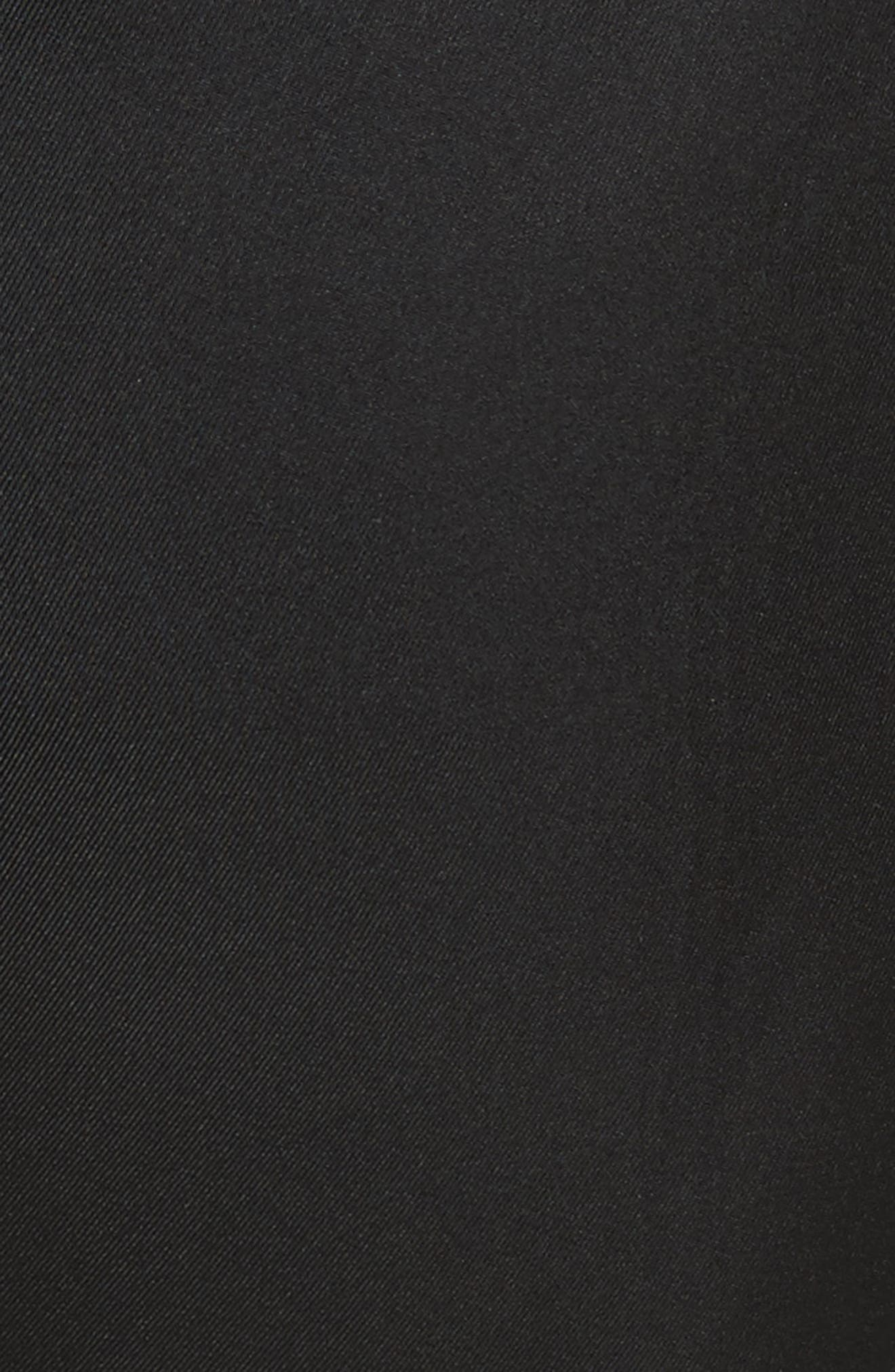 Tie Cuff Silk Pants,                             Alternate thumbnail 6, color,                             Black