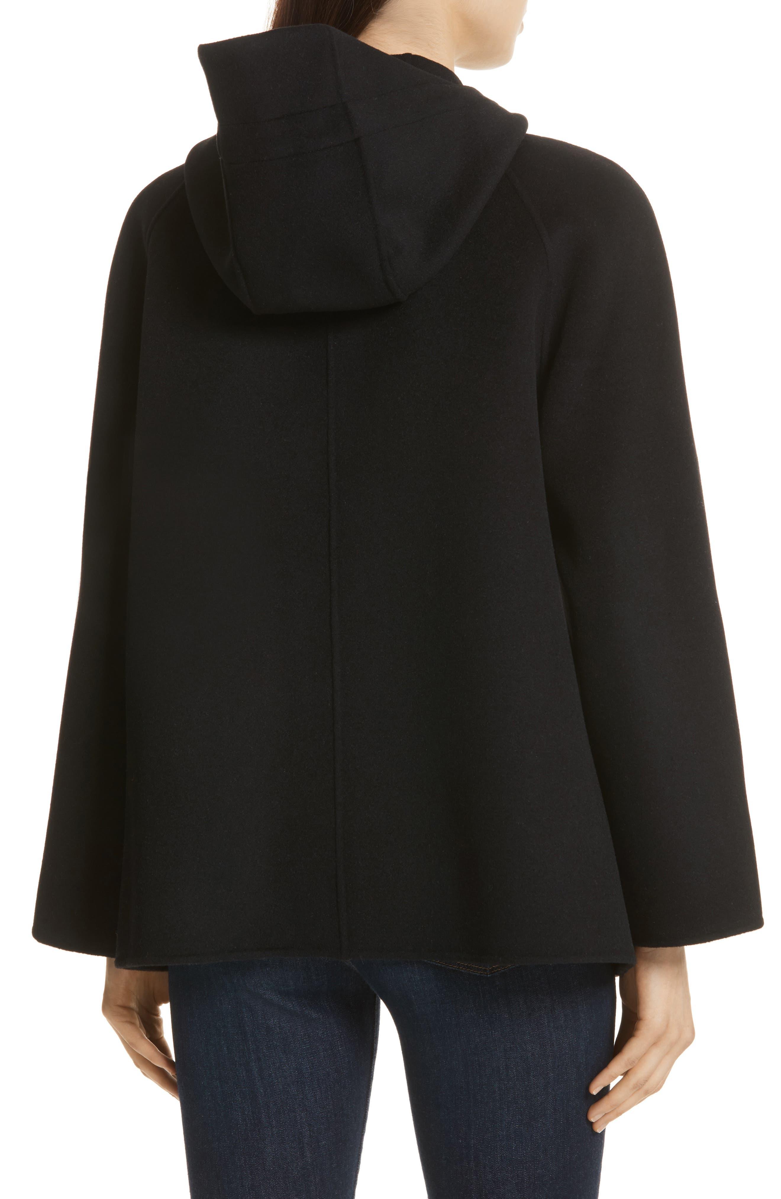 Rowan Double Wool Coat,                             Alternate thumbnail 2, color,                             Black
