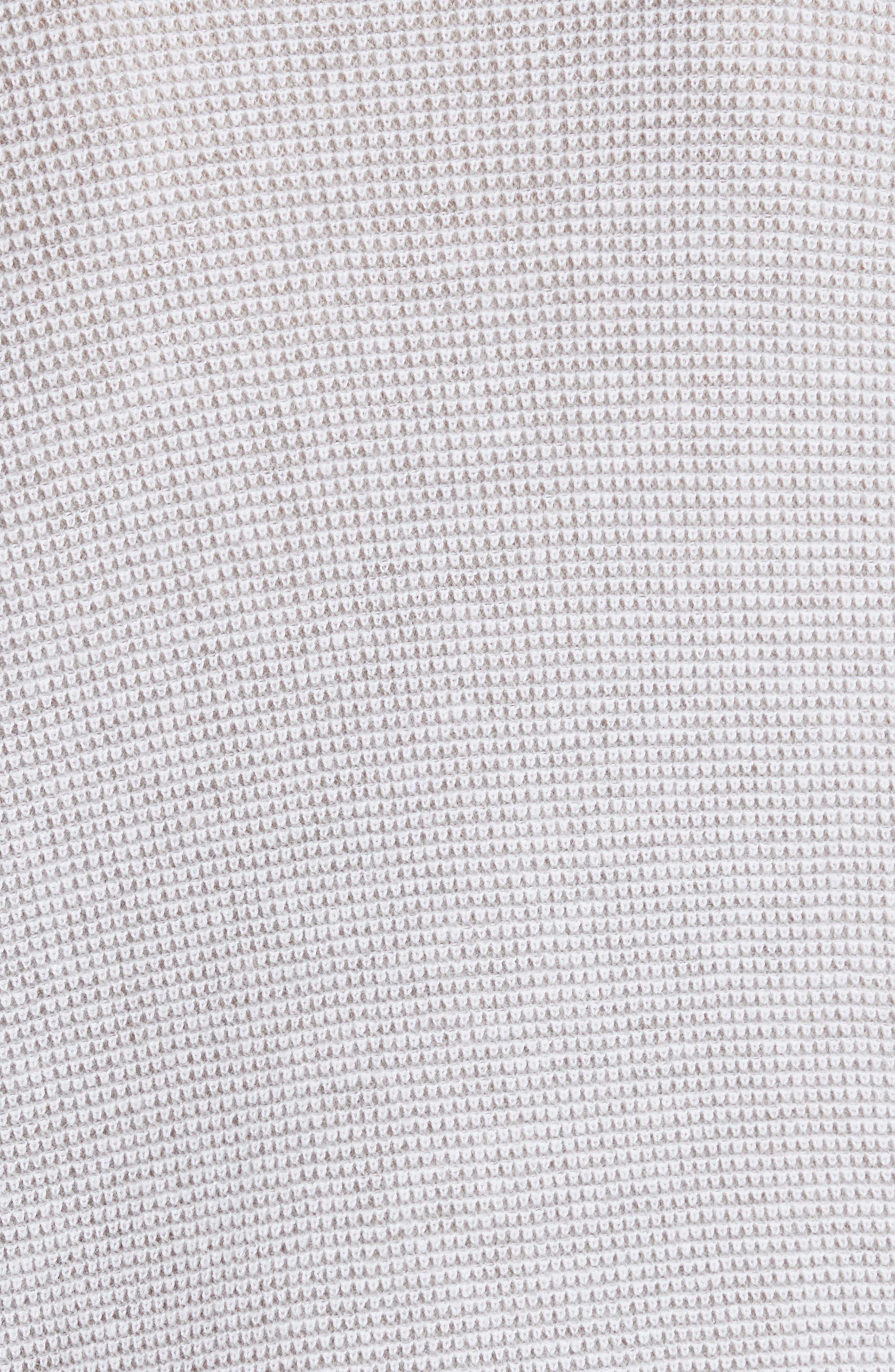 Laurana Cotton & Cashmere Sweater,                             Alternate thumbnail 5, color,                             Porcelain/ Heather Grey