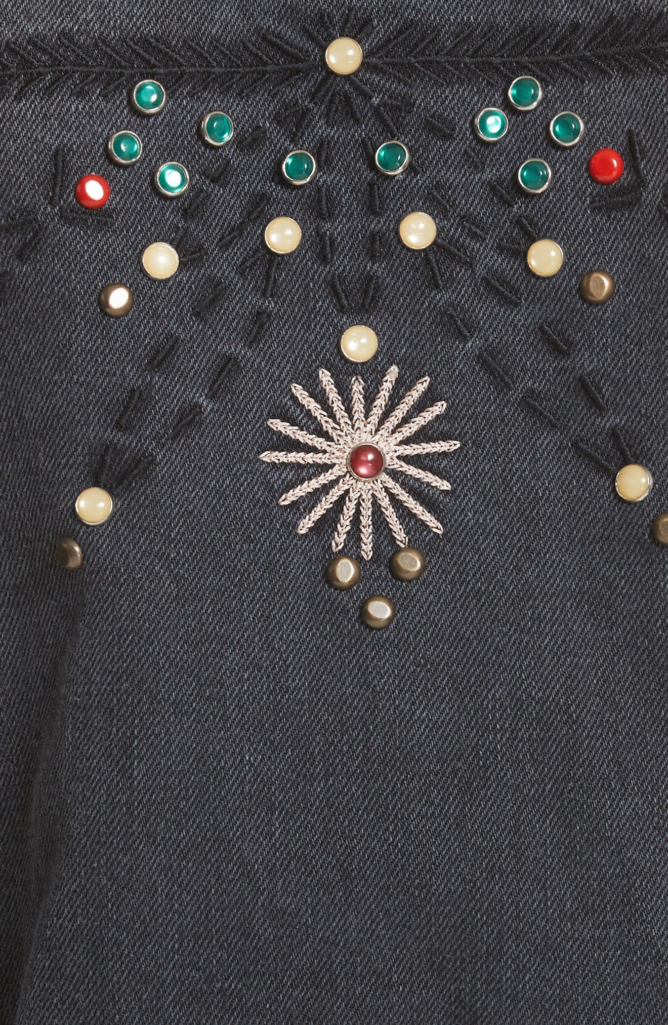 Alternate Image 5  - Isabel Marant Étoile Cabella Embellished Denim Jacket