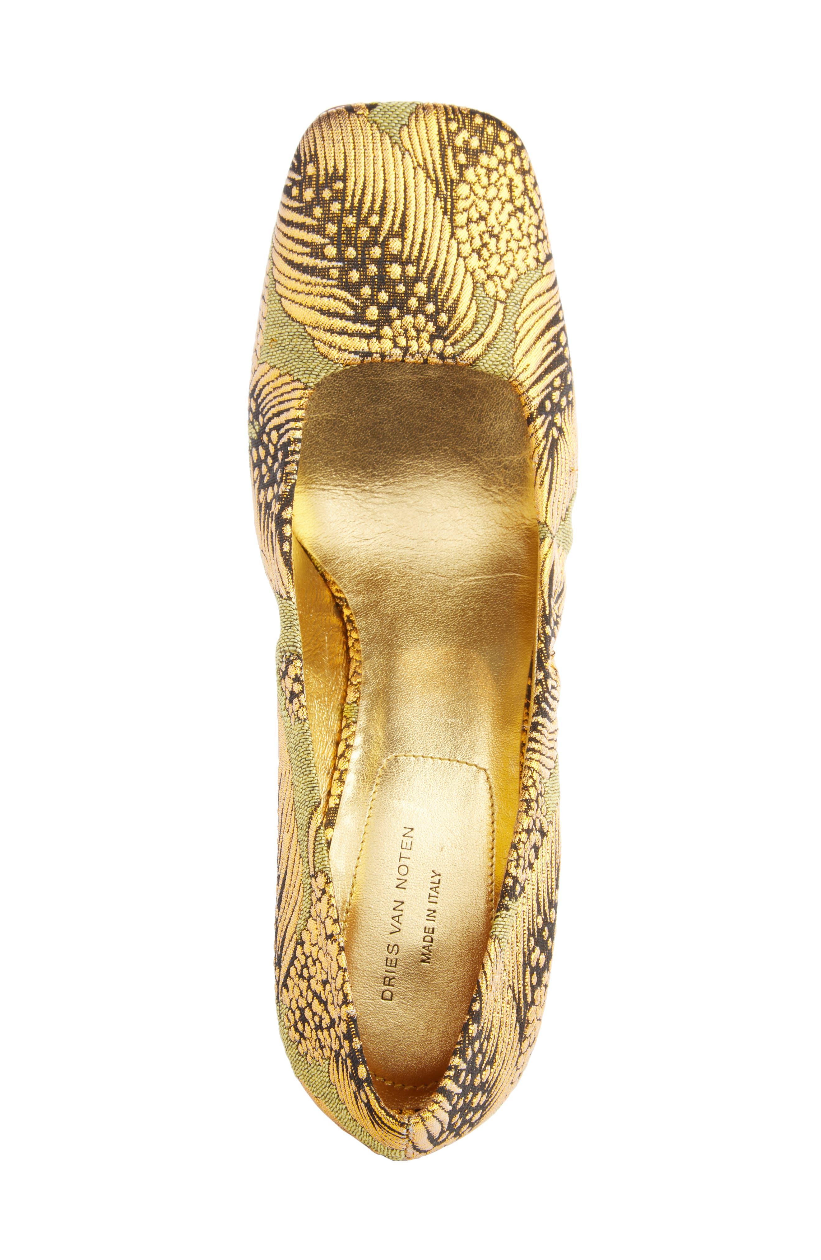 Alternate Image 3  - Dries Van Noten Leaf Print Angle Heel Pump (Women)