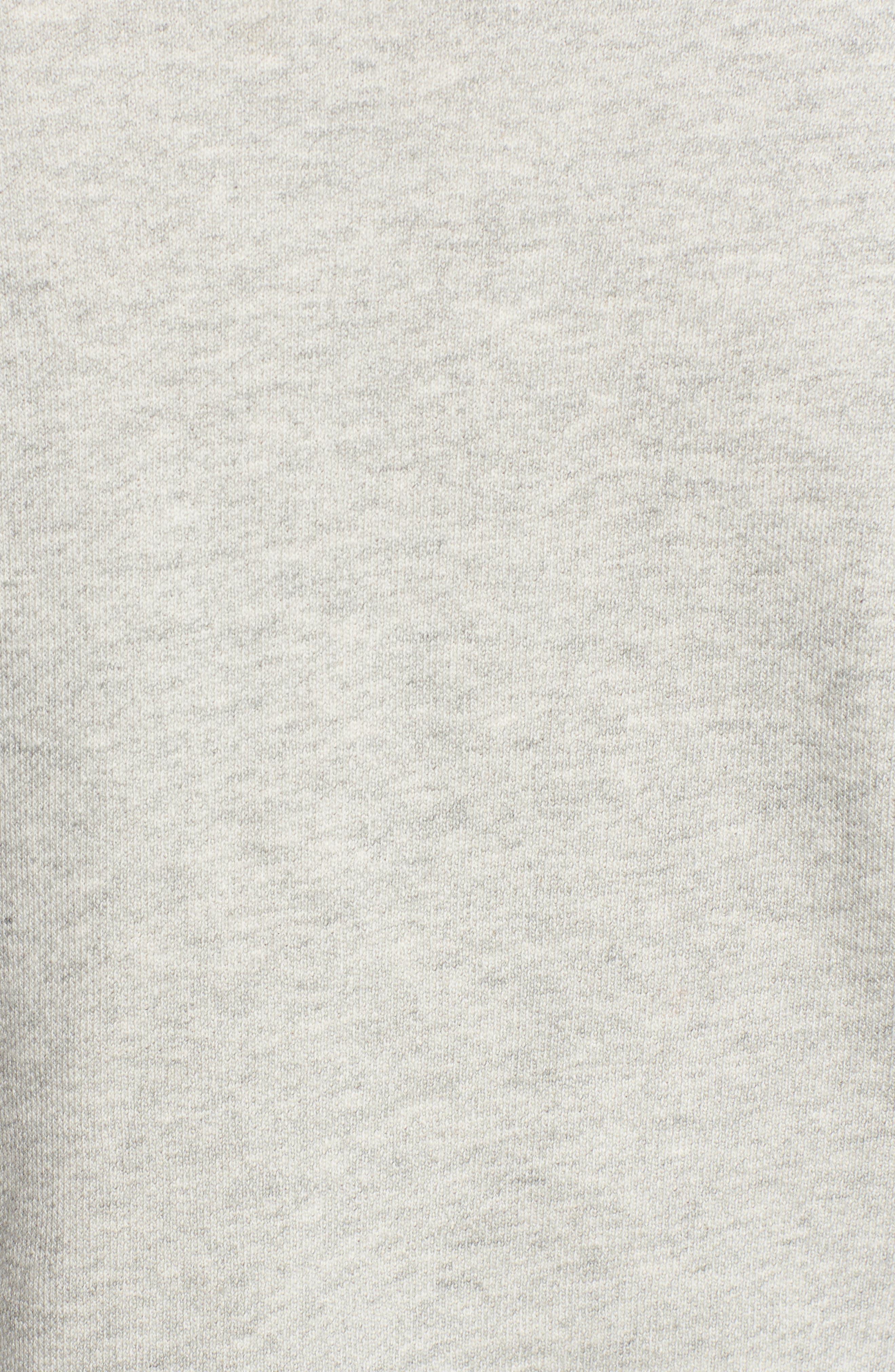 Flare Sleeve Crop Sweatshirt,                             Alternate thumbnail 5, color,                             Heather Grey