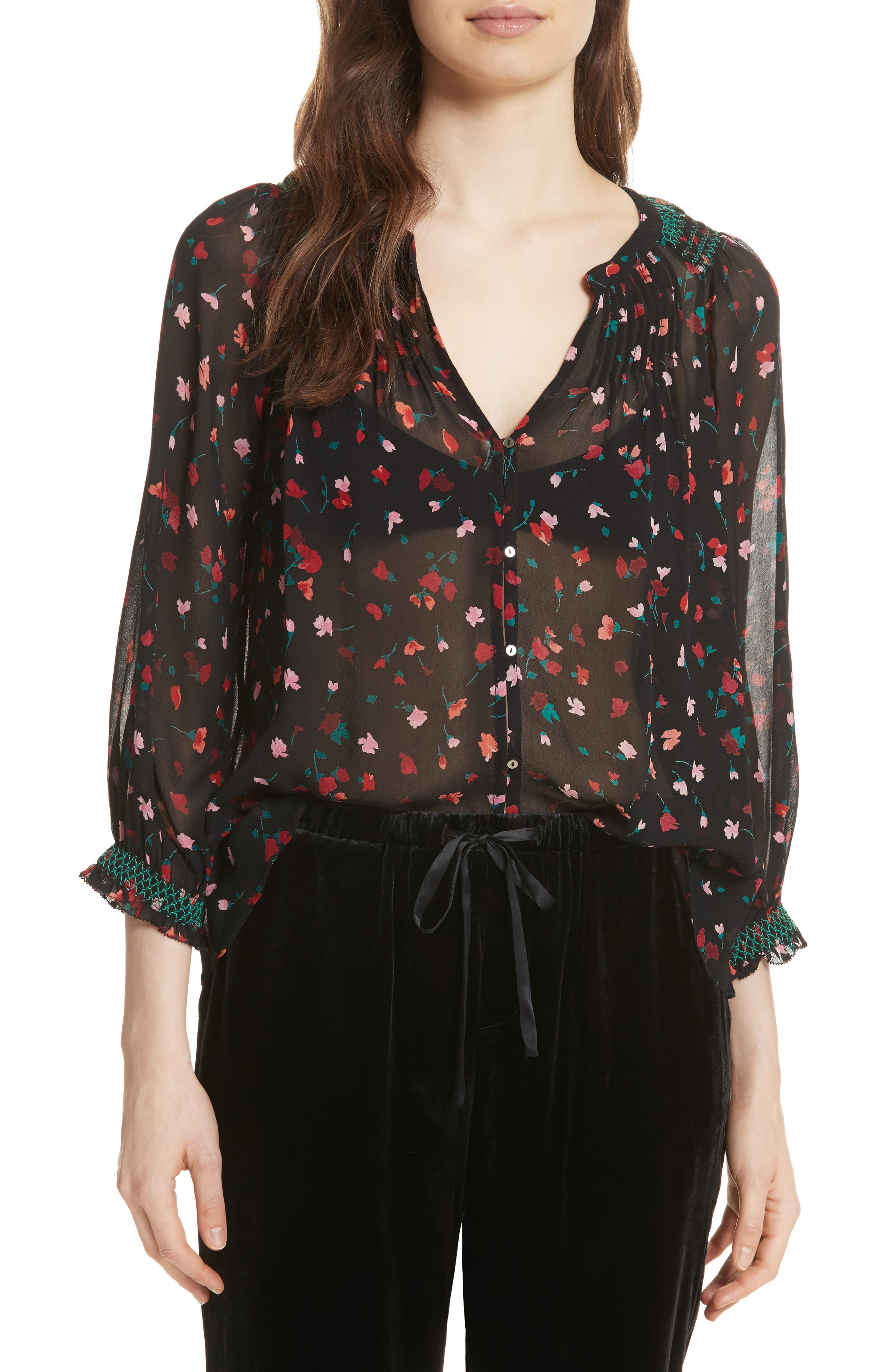 Alternate Image 1 Selected - Joie Gontilda Floral Silk Blouse