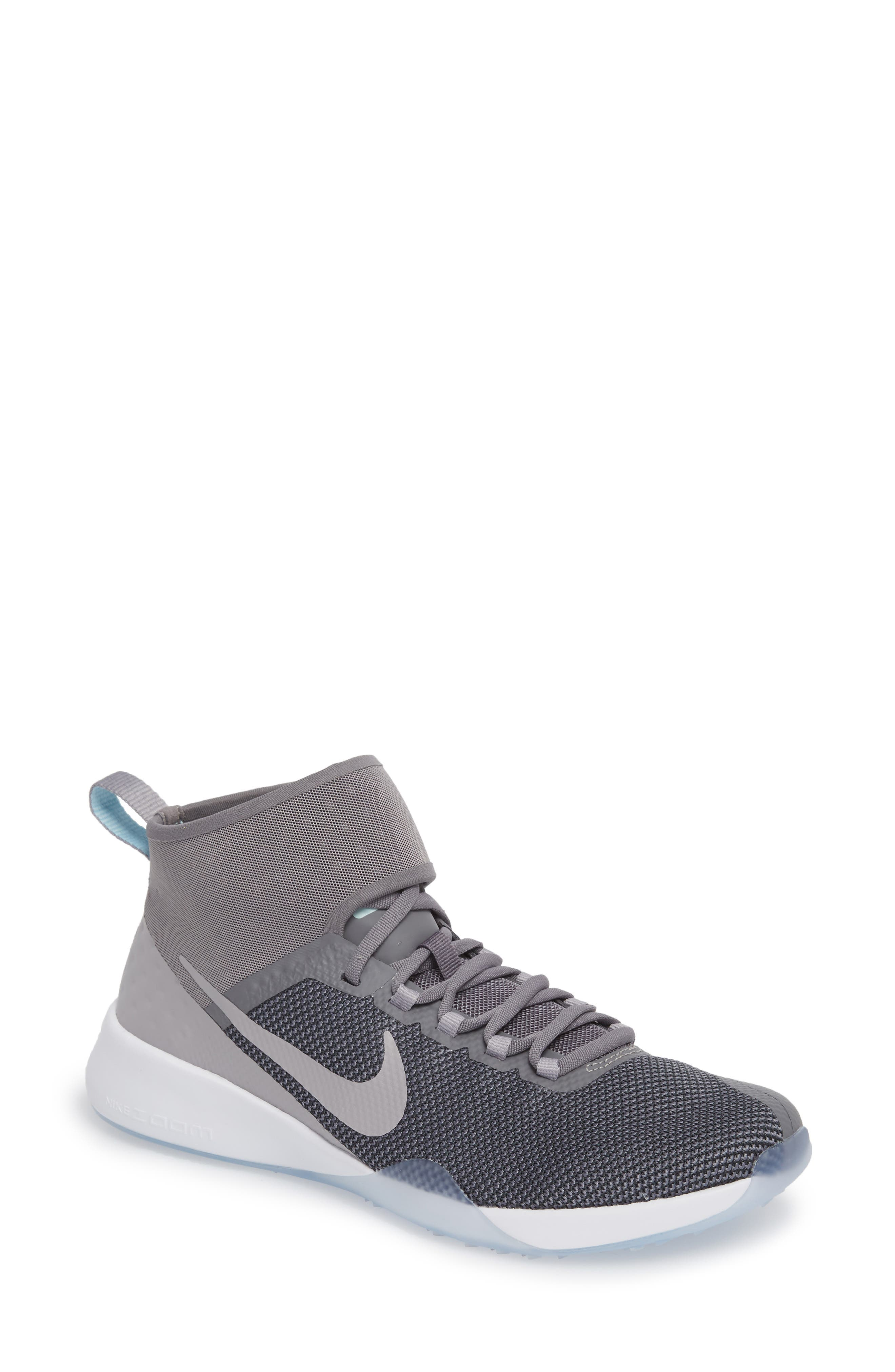 NikeLab Air Zoom Strong 2 Training Shoe,                         Main,                         color, Smoke/ Atmosphere Grey