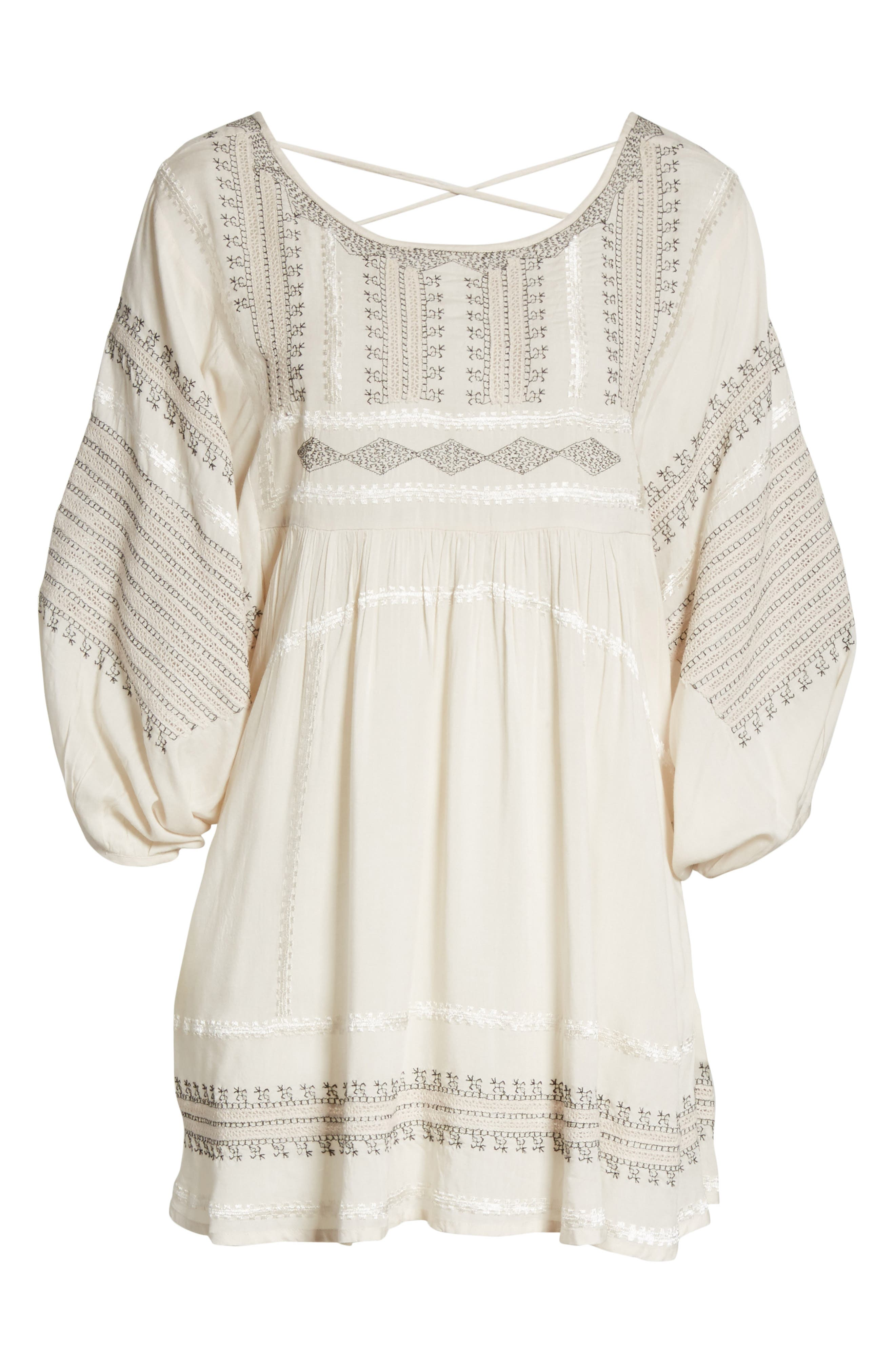 Wild One Embroidered Top,                             Alternate thumbnail 6, color,                             Ivory