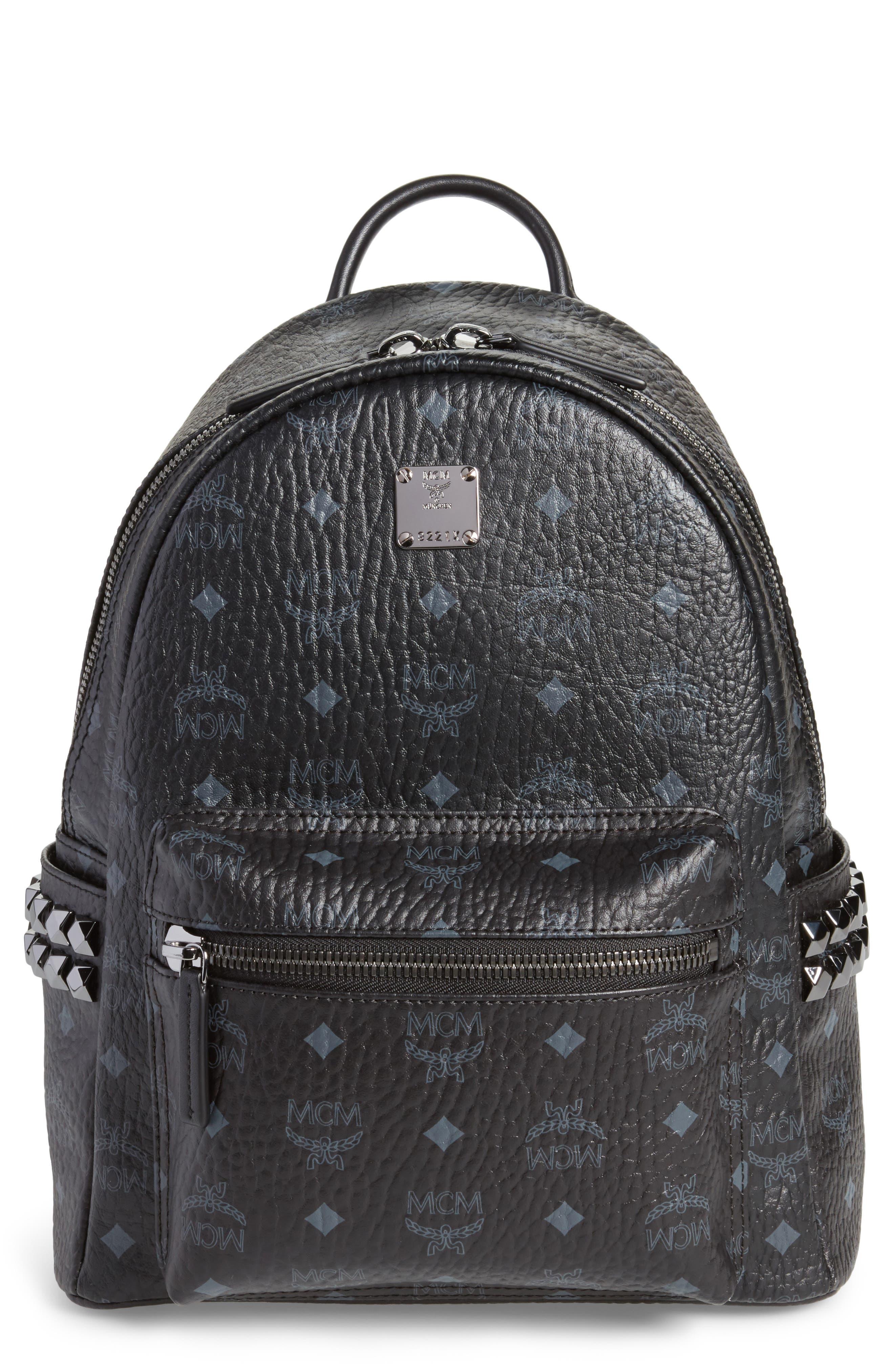 Small Stark Side Stud Backpack,                         Main,                         color, Black