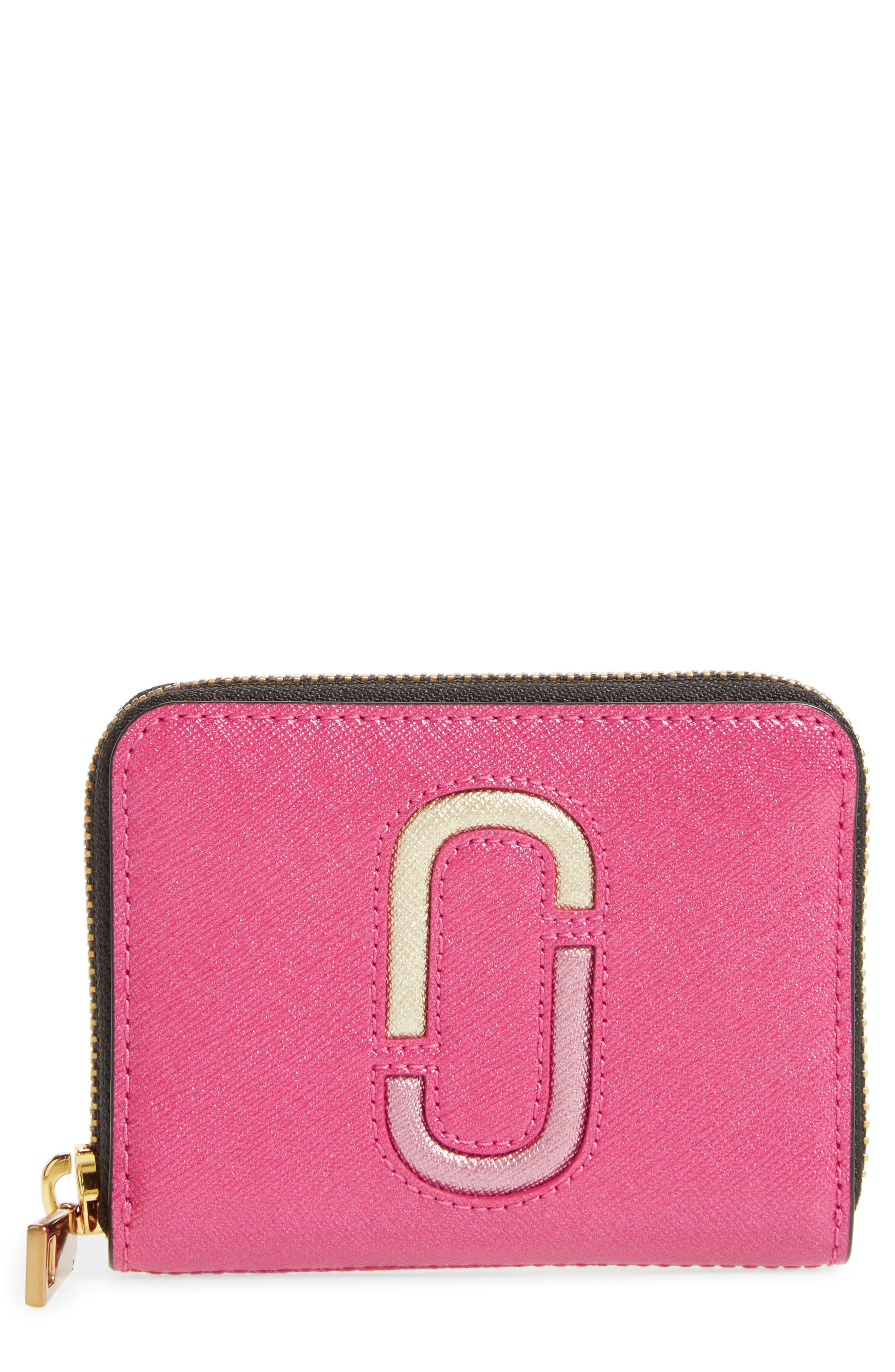 Main Image - MARC JACOBS Snapshot Saffiano Leather Zip Around Wallet