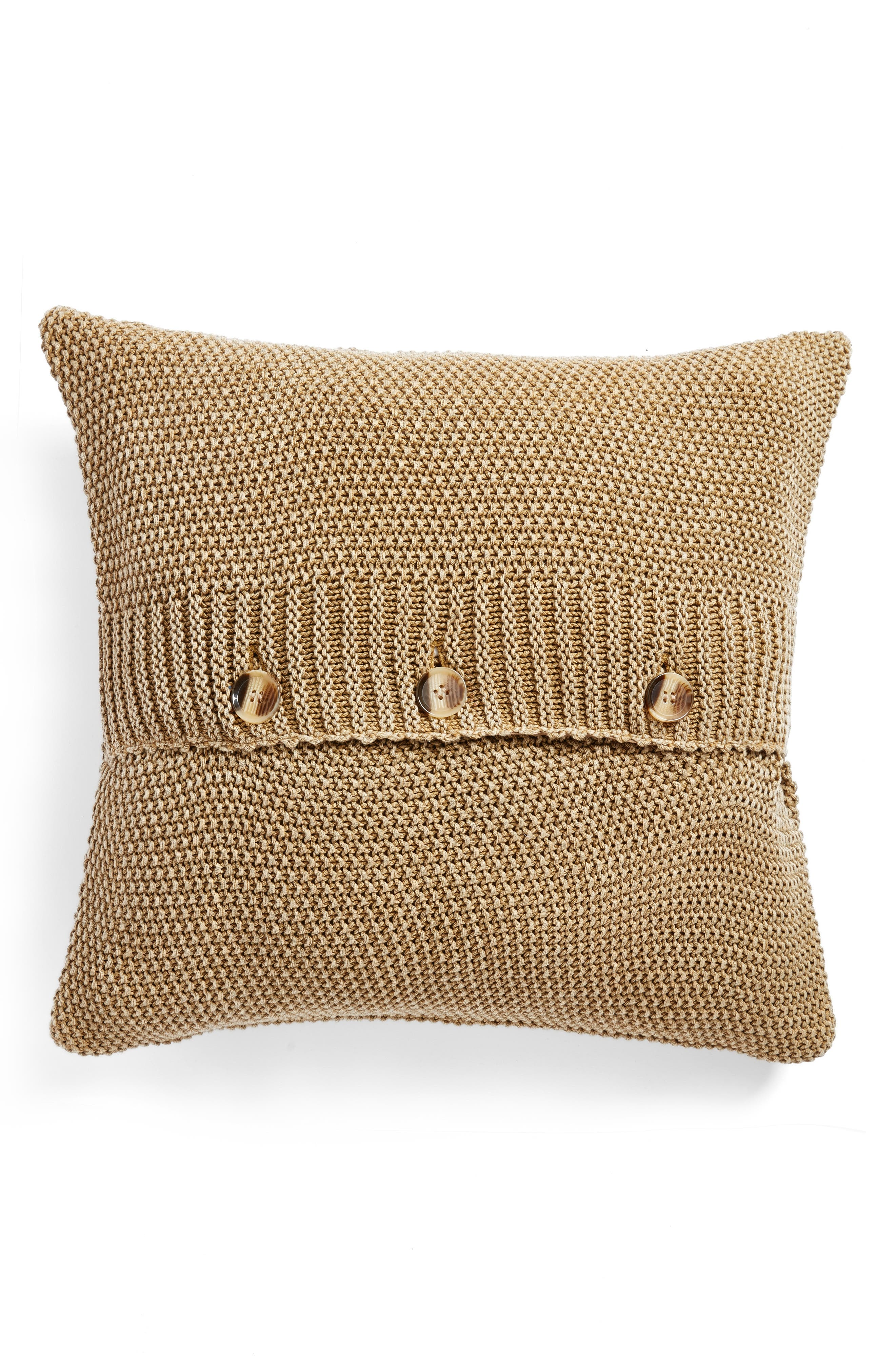 Seed Stitch Accent Pillow,                             Alternate thumbnail 2, color,                             Olive Estate