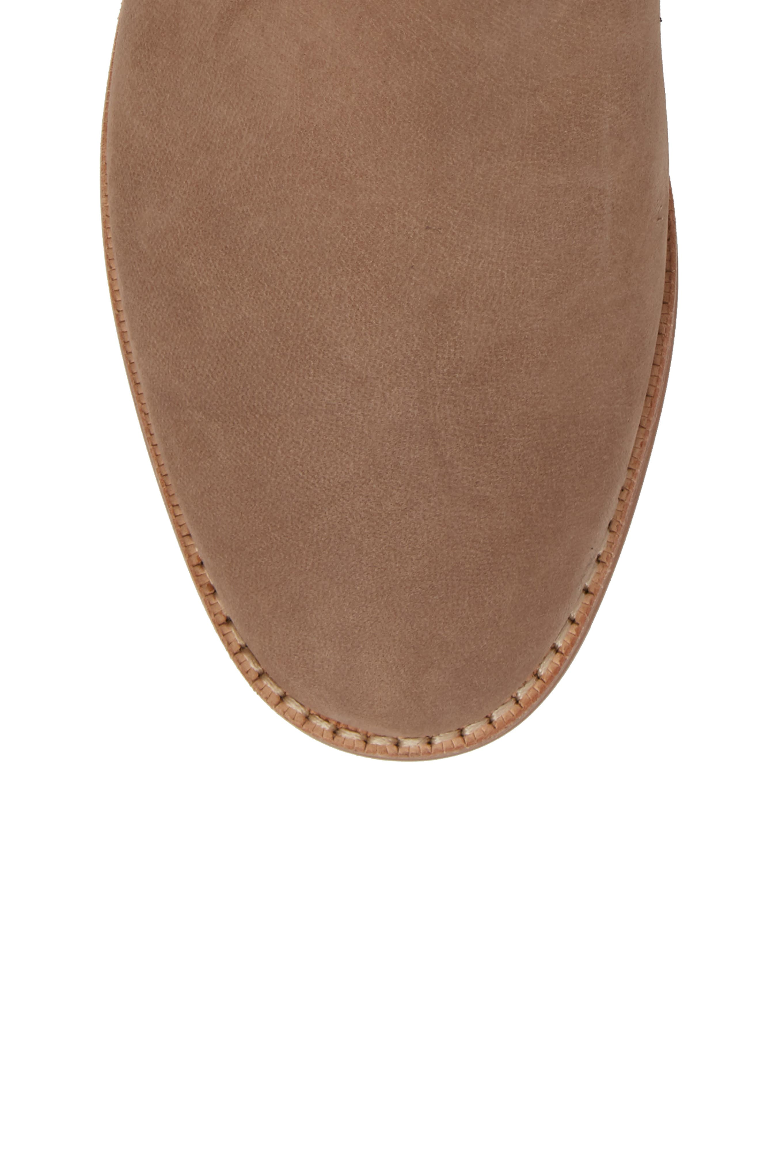 Barbora Gusseted Bootie,                             Alternate thumbnail 5, color,                             Taupe Suede