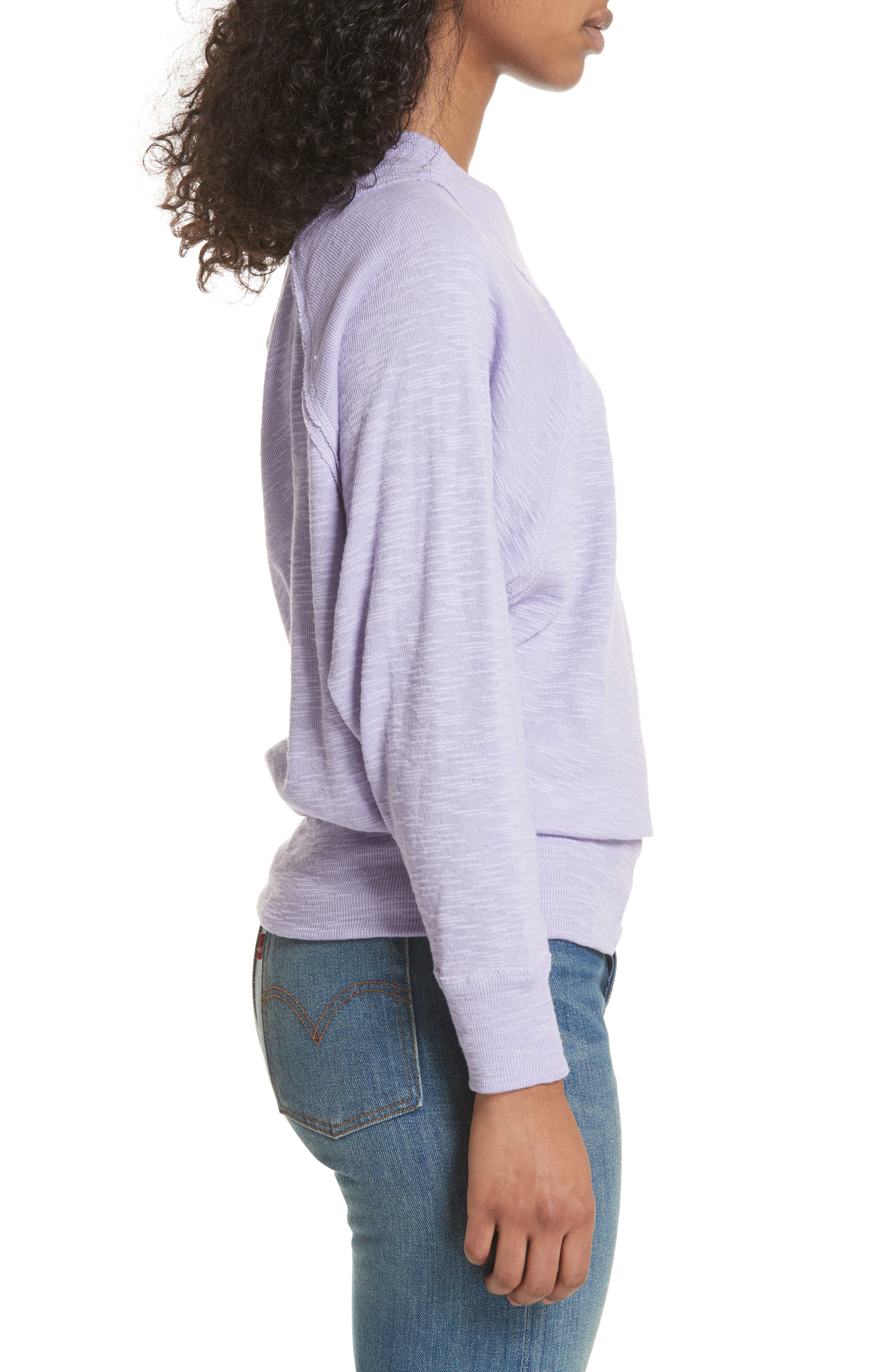 Palisades Off the Shoulder Top,                             Alternate thumbnail 3, color,                             Lilac
