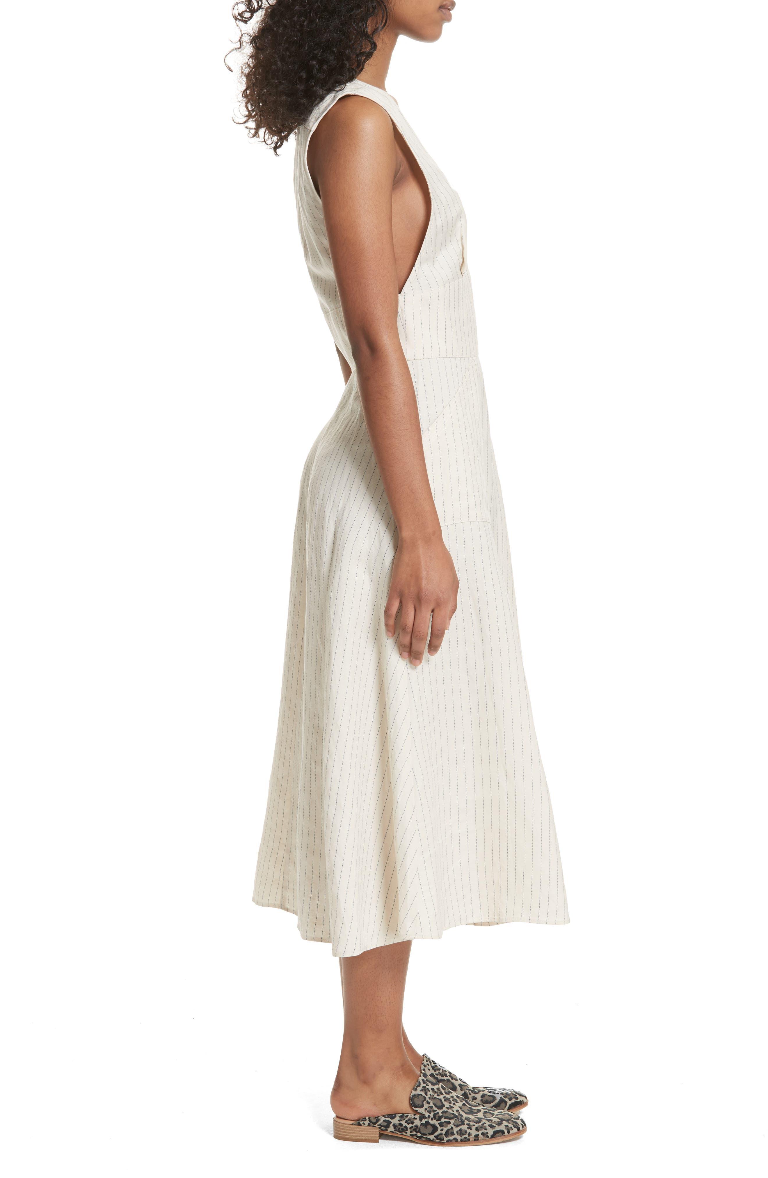 Pretty Daze Midi Dress,                             Alternate thumbnail 3, color,                             Ivory Combo