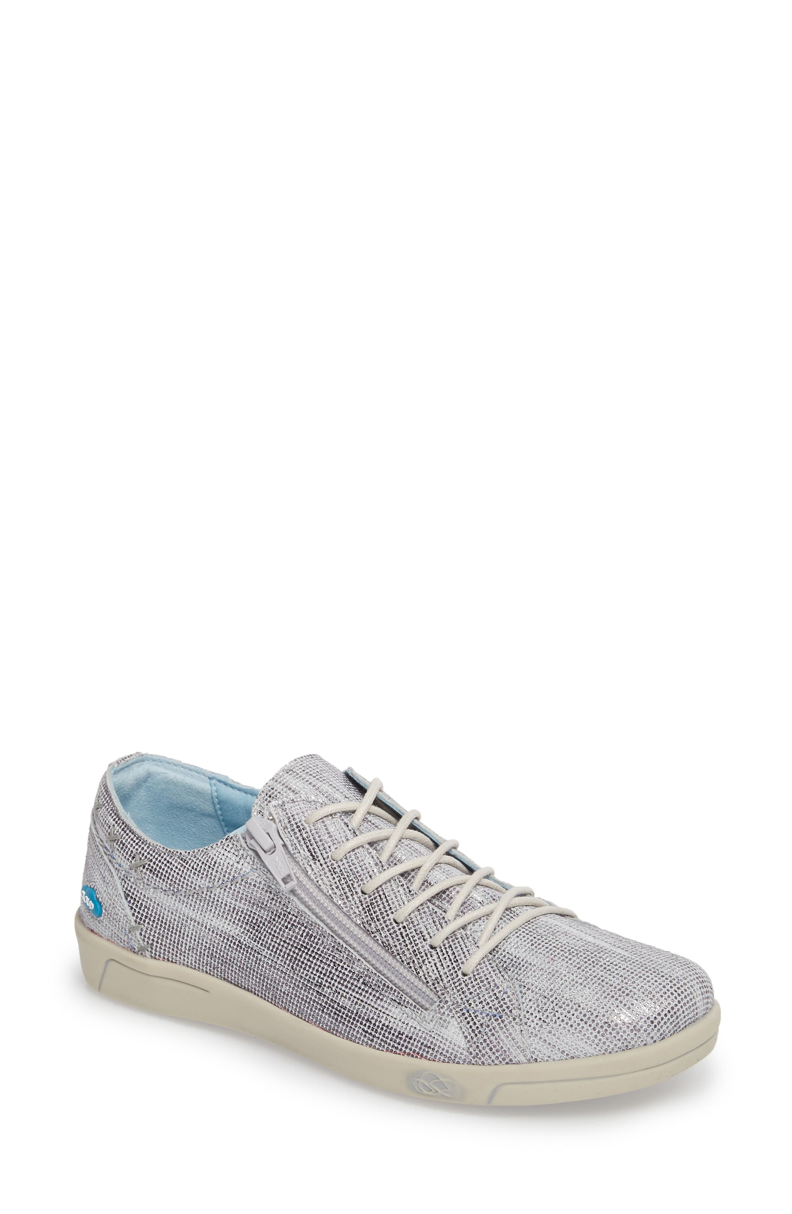 Aika Dunkan Sneaker,                         Main,                         color, Grey Leather