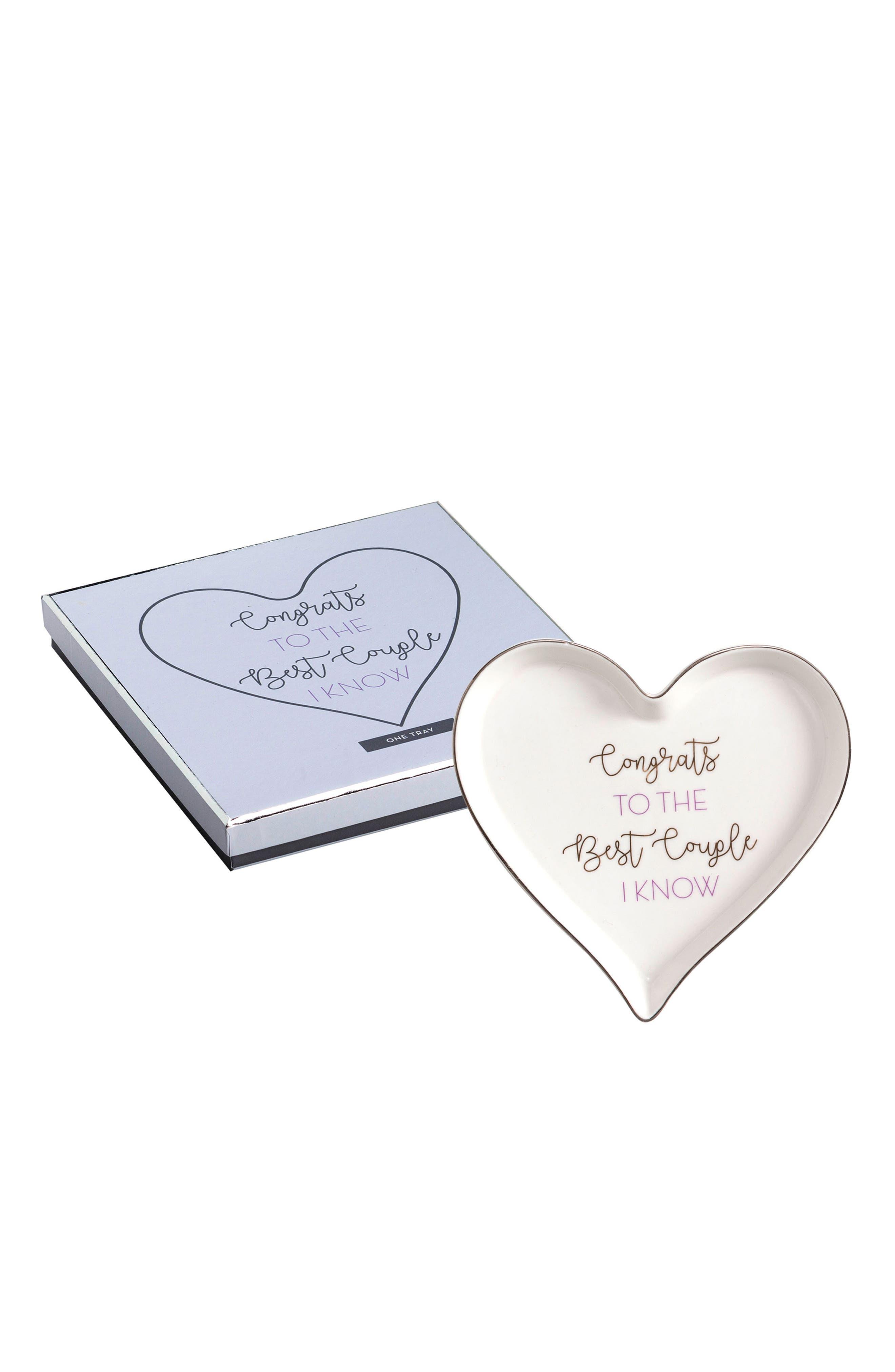 Congrats Heart Tray,                         Main,                         color, Purple Multi
