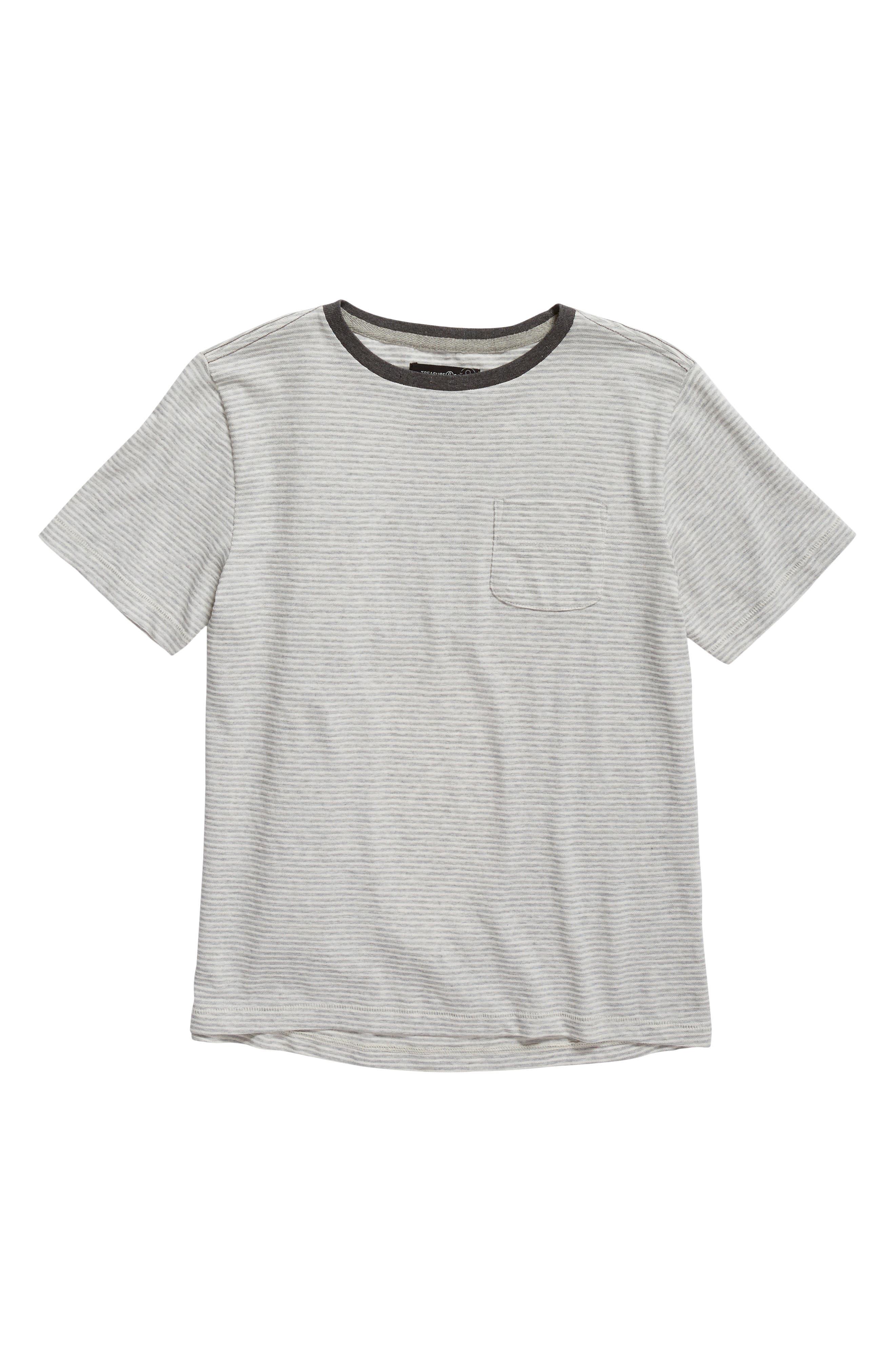 Main Image - Treasure & Bond Stripe Pocket T-Shirt (Big Boys)