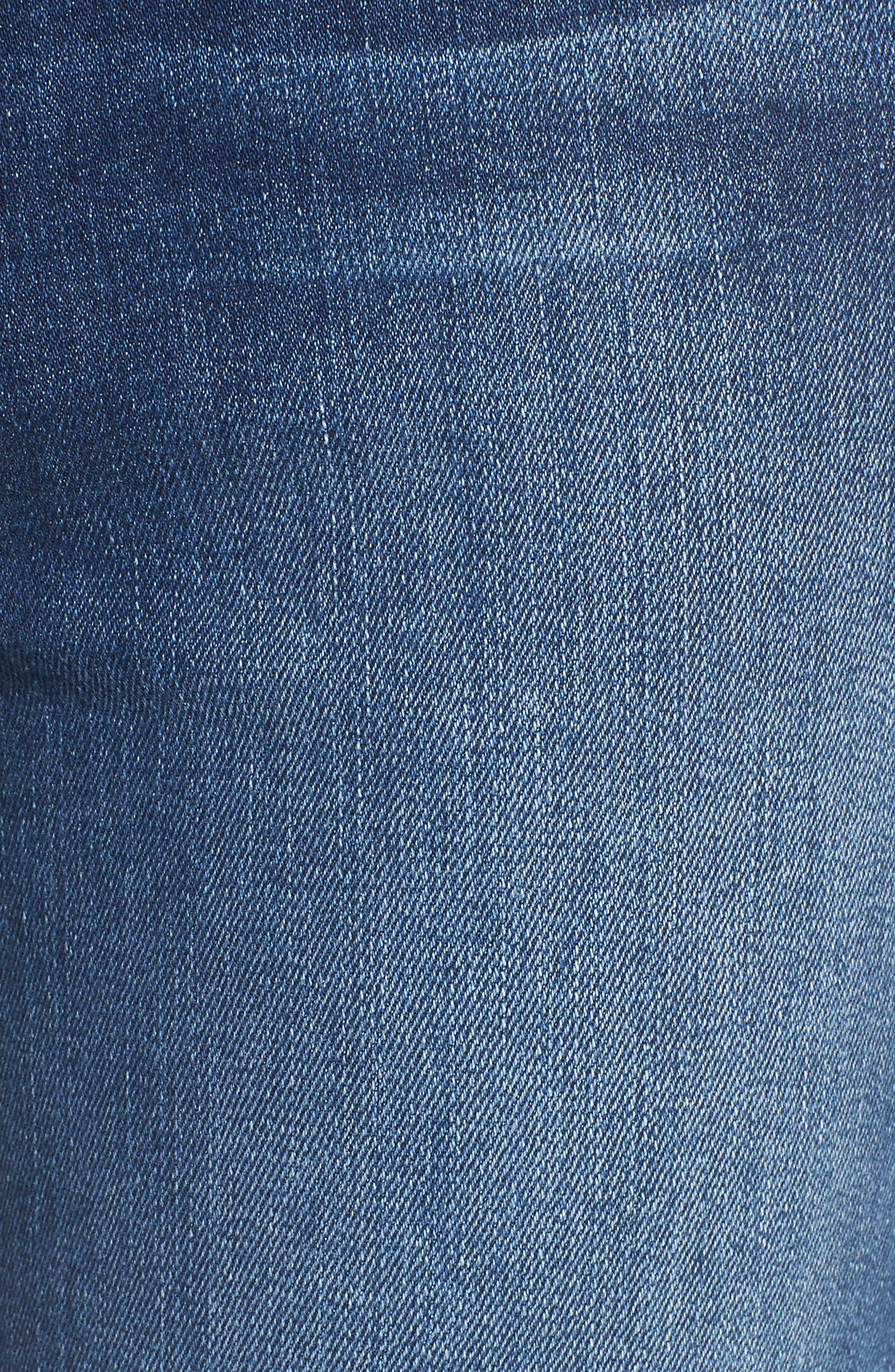 Transcend - Hoxton Ankle Straight Leg Jeans,                             Alternate thumbnail 6, color,                             Malibu