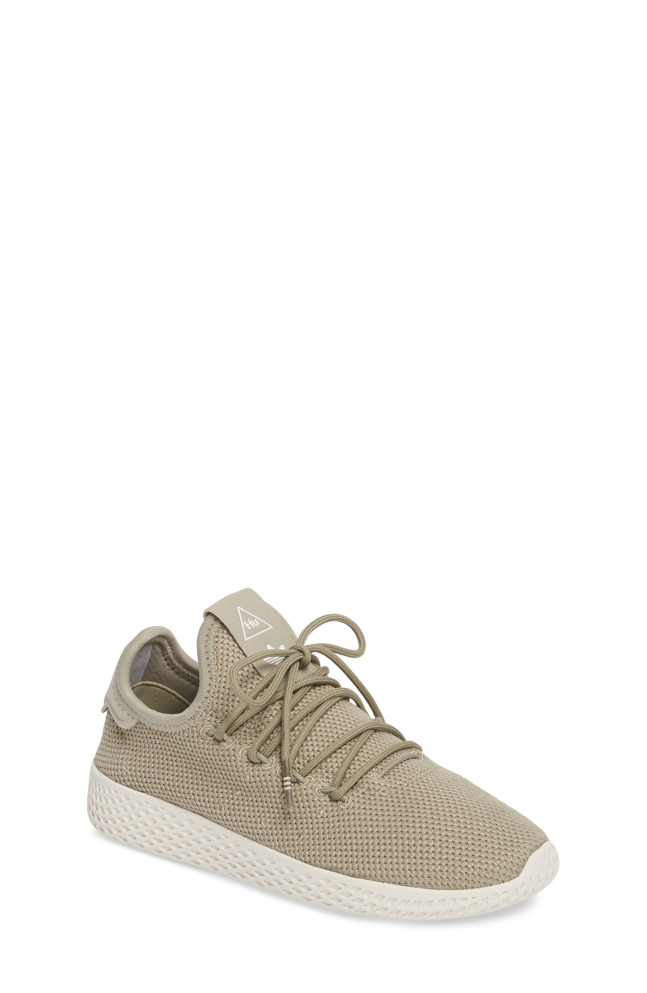 Pharrell Williams Tennis Hu Sock Sneaker,                             Main thumbnail 1, color,                             Tech Beige/ Chalk White