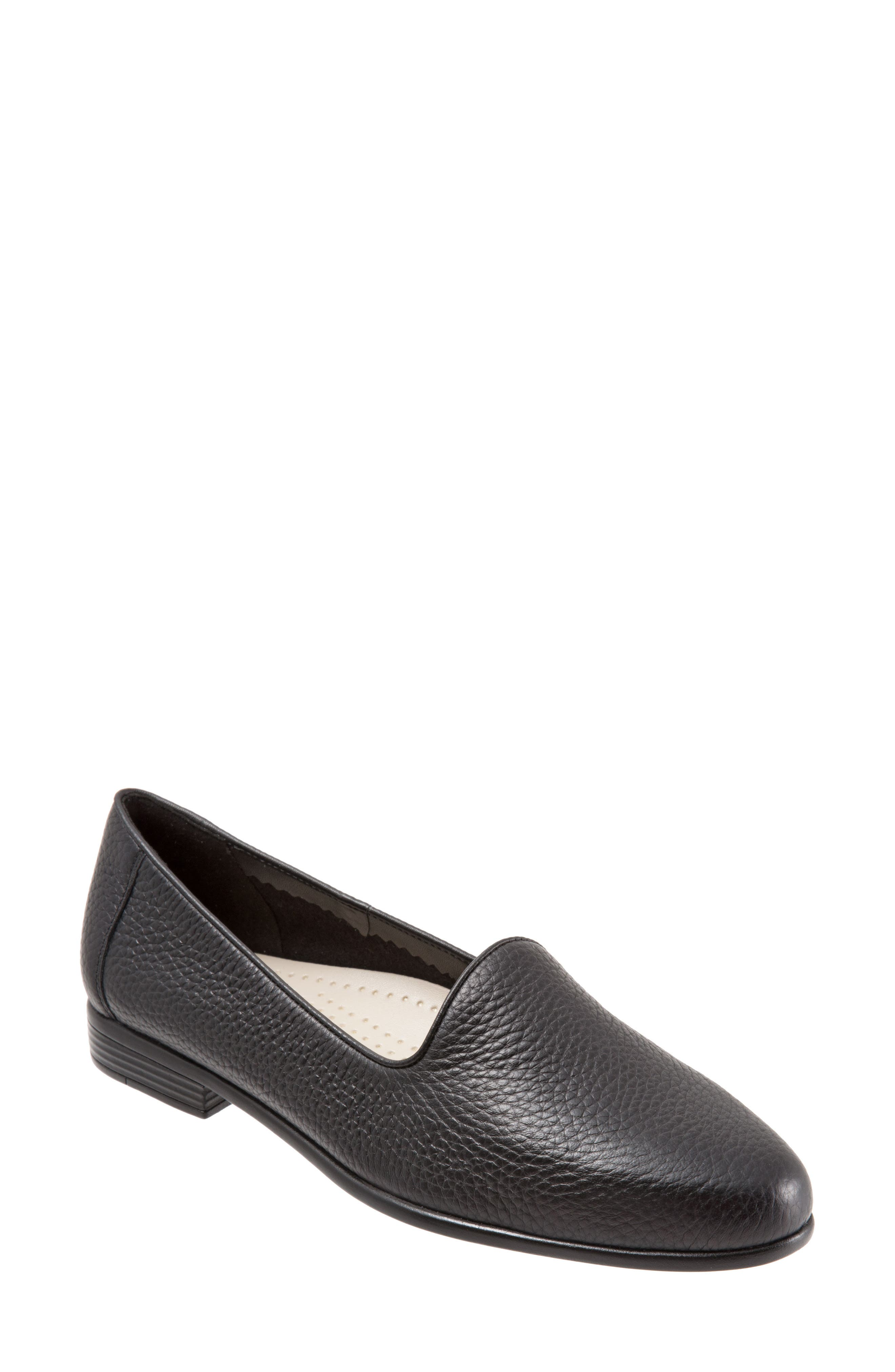 Liz Loafer,                             Main thumbnail 1, color,                             Black Leather