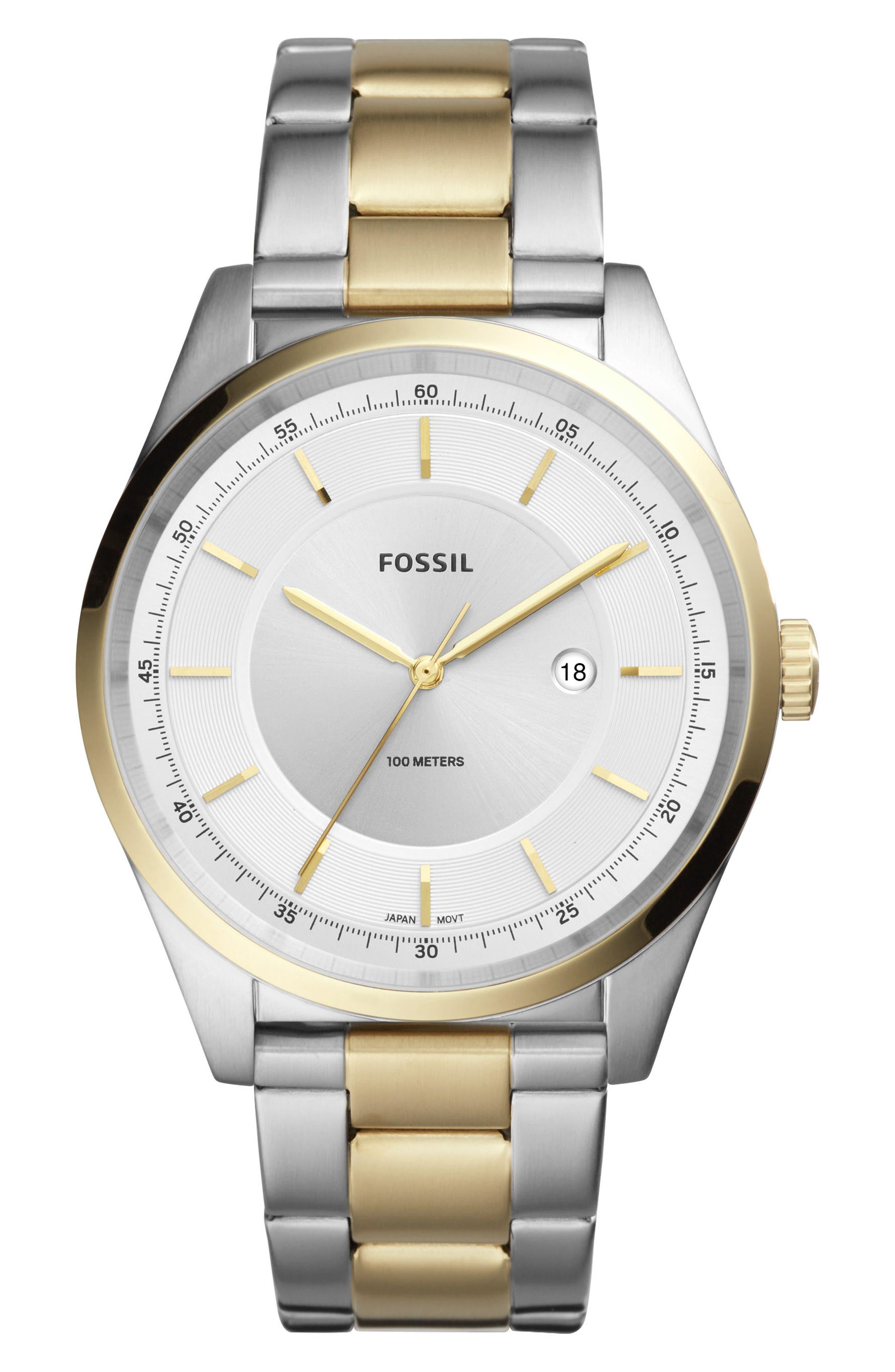 Mathis Bracelet Watch, 44mm,                         Main,                         color, Gold/ Silver