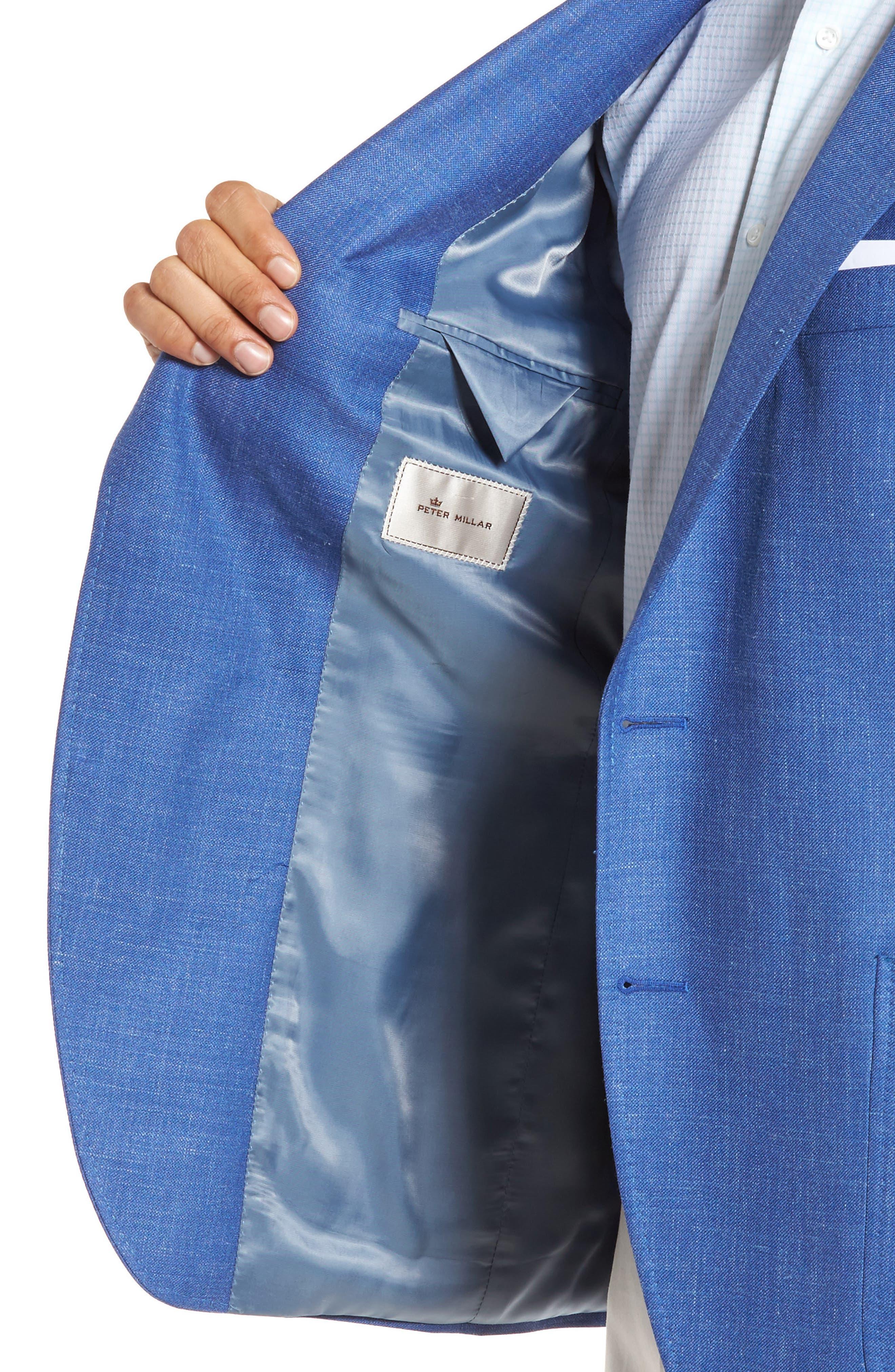 Classic Fit Wool Blend Blazer,                             Alternate thumbnail 4, color,                             Blue
