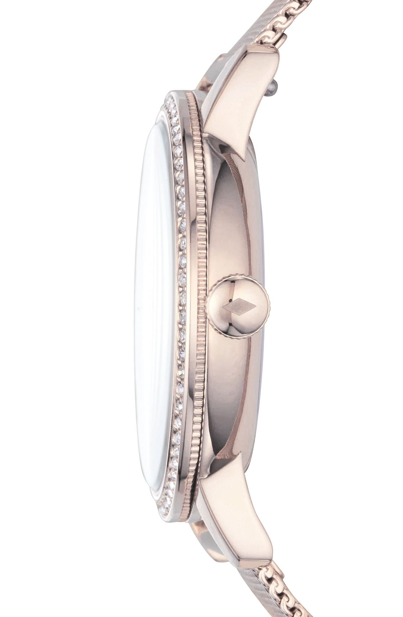 Neely Crystal Mesh Strap Watch, 34mm,                             Alternate thumbnail 2, color,                             Pink