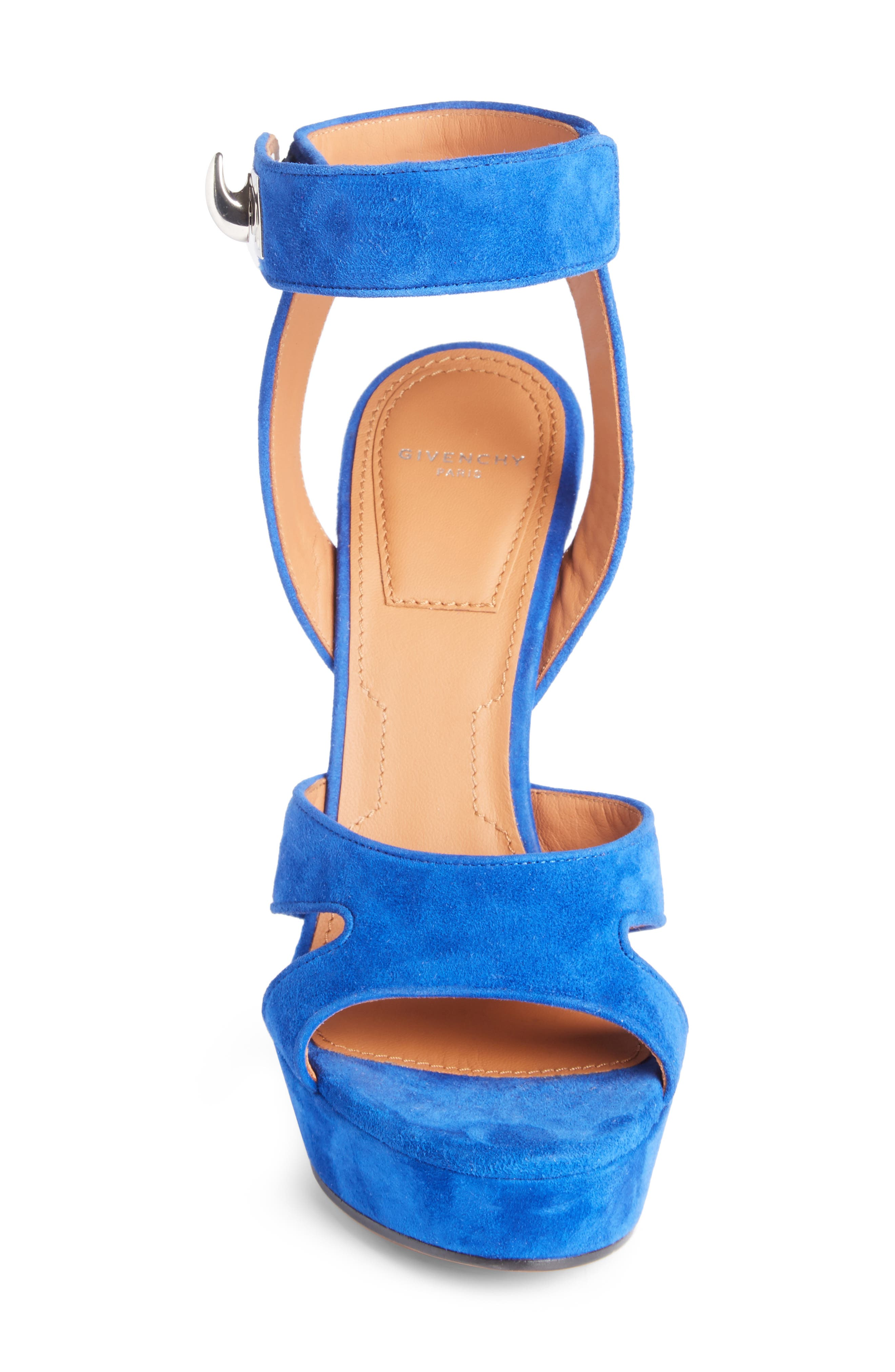 Shark's Tooth Sandal,                             Alternate thumbnail 3, color,                             Electric Blue