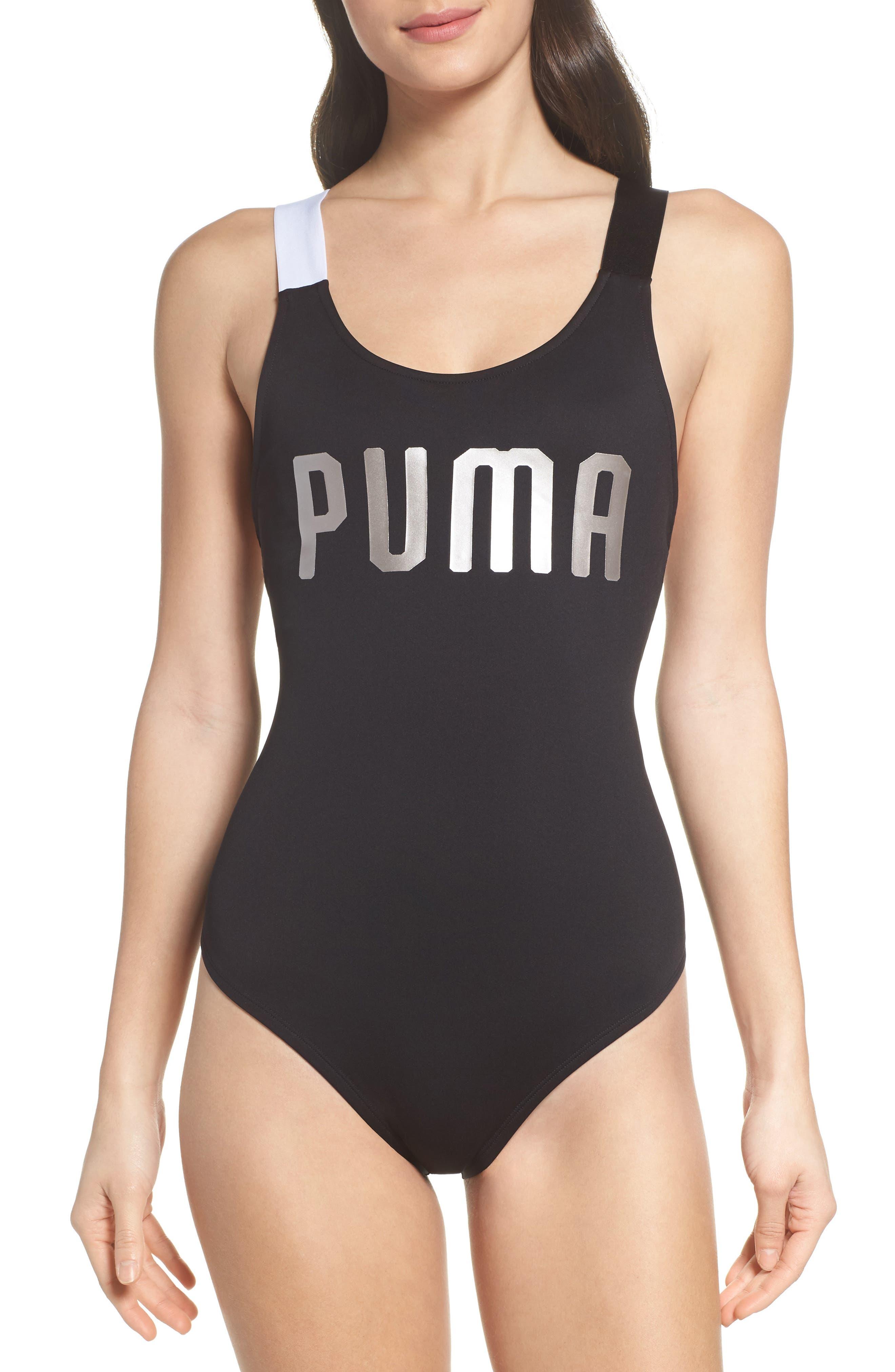 En Point Bodysuit,                             Alternate thumbnail 4, color,                             Puma Black