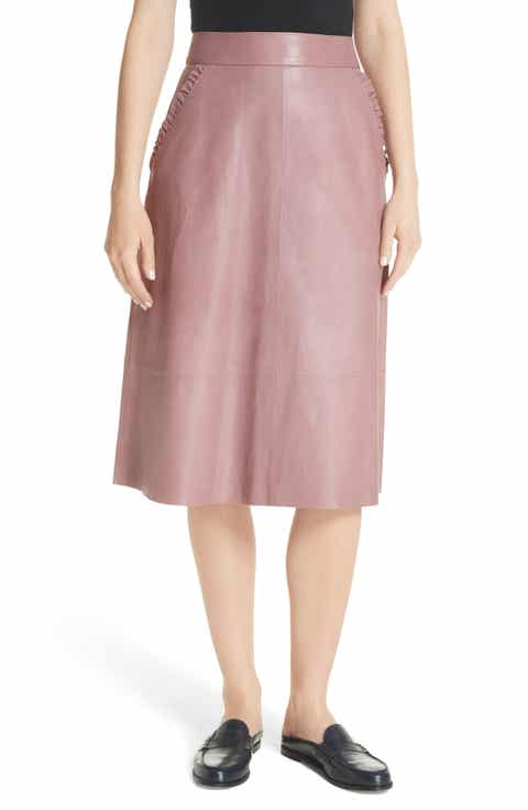 kate spade new york pacey A-line leather skirt Cheap