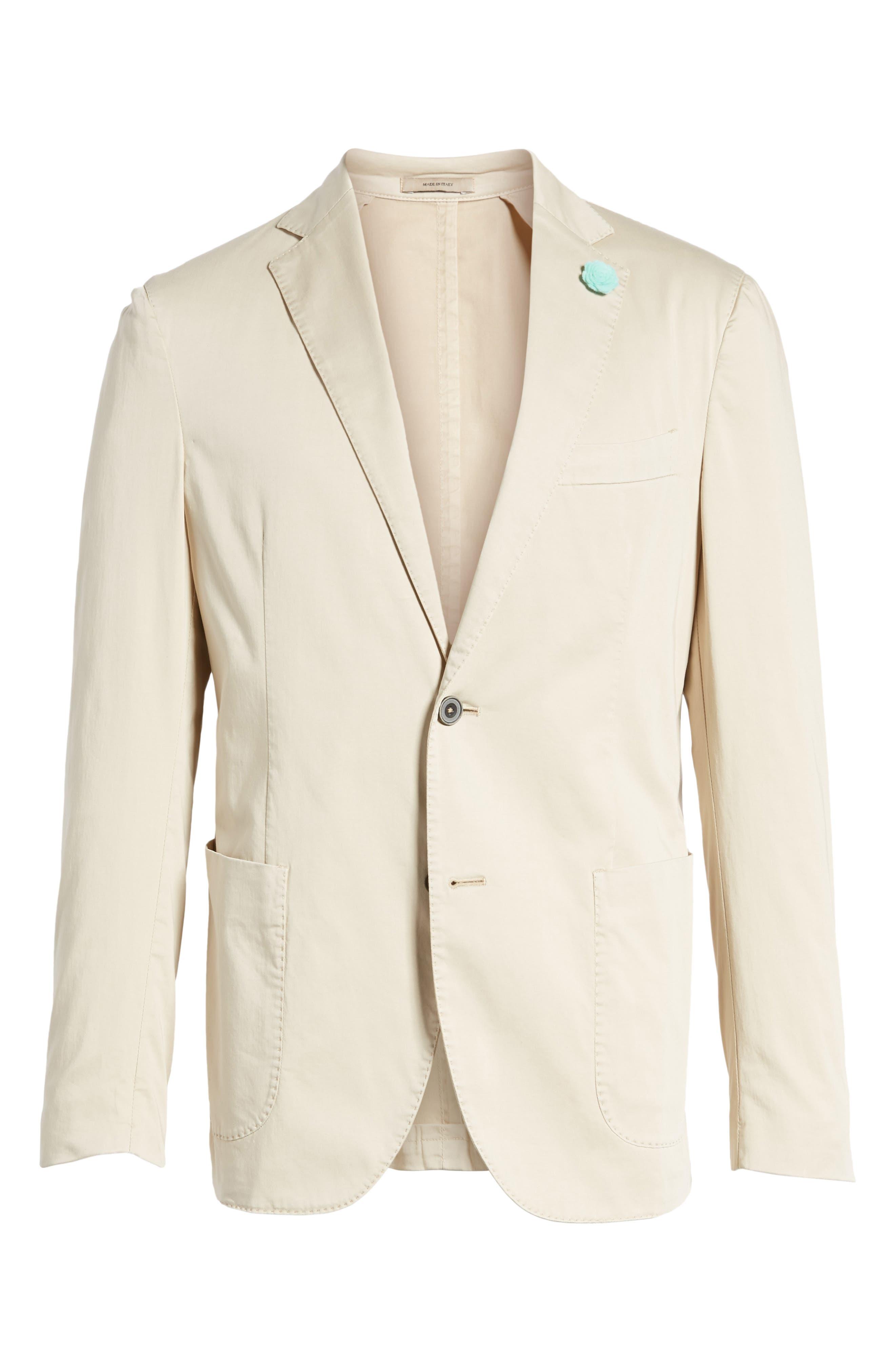 Alternate Image 6  - Culturata Trim Fit Stretch Cotton Blazer