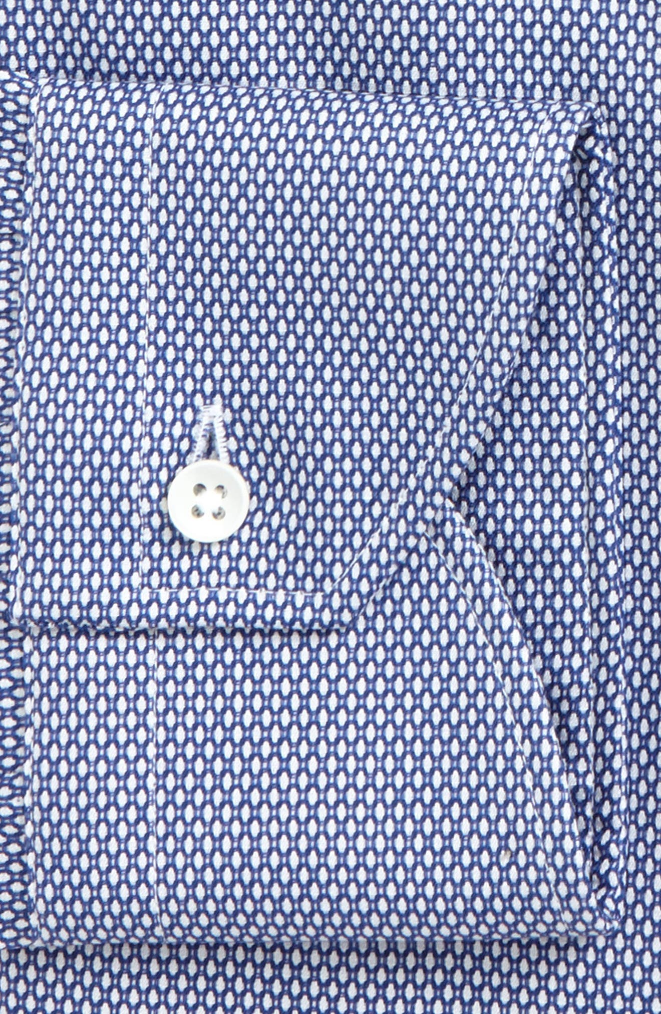 Regular Fit Geometric Dress Shirt,                             Alternate thumbnail 2, color,                             Blue