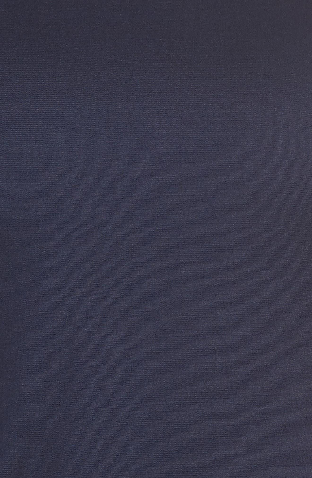 Handkerchief Hem Fit & Flare Dress,                             Alternate thumbnail 5, color,                             Navy