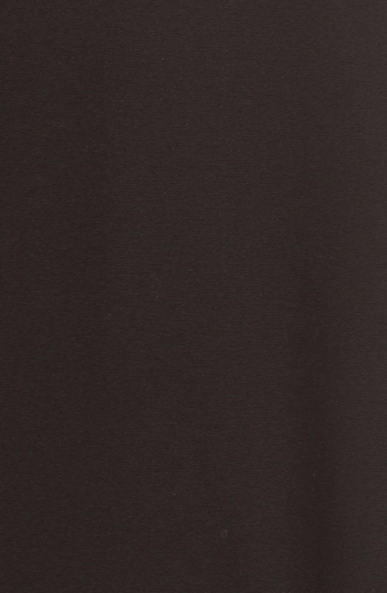 Balloon Sleeve Shift Dress,                             Alternate thumbnail 5, color,                             Black