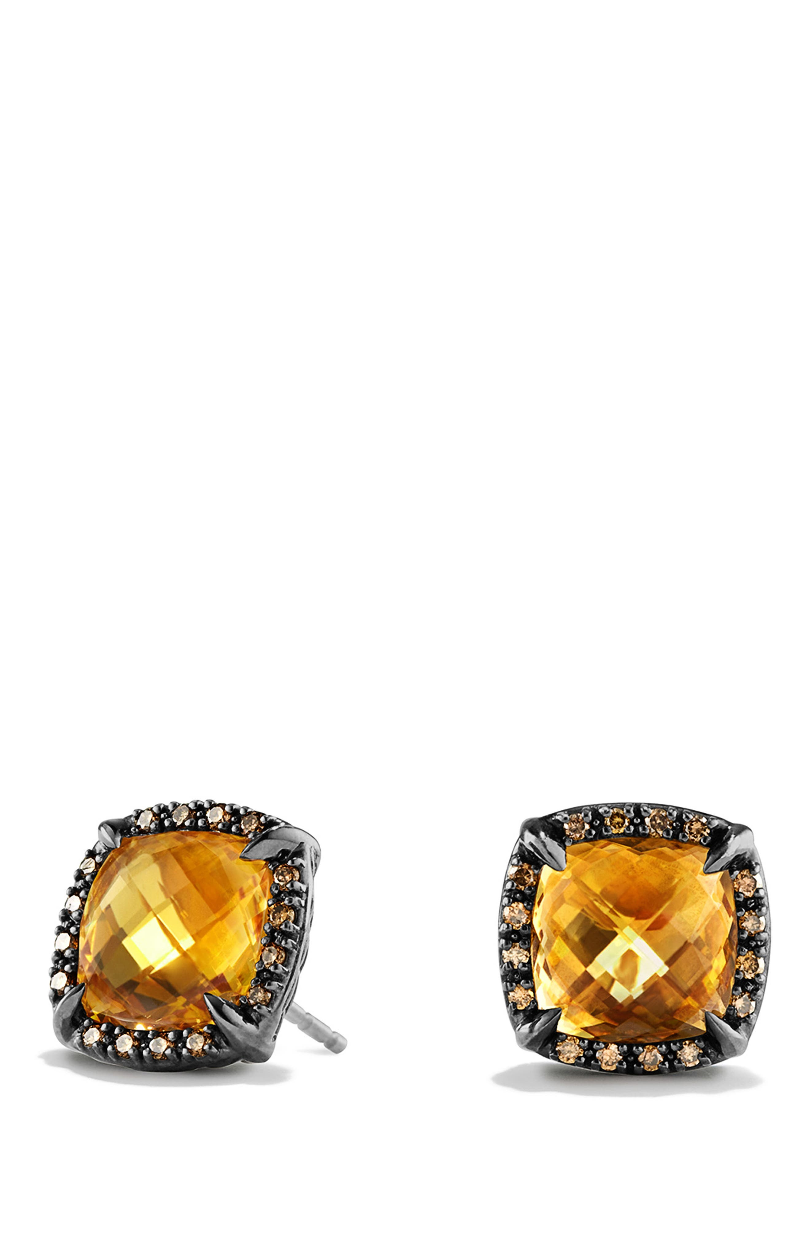 'Châtelaine' Earrings with Semiprecious Stone and Diamonds,                         Main,                         color, Citrine
