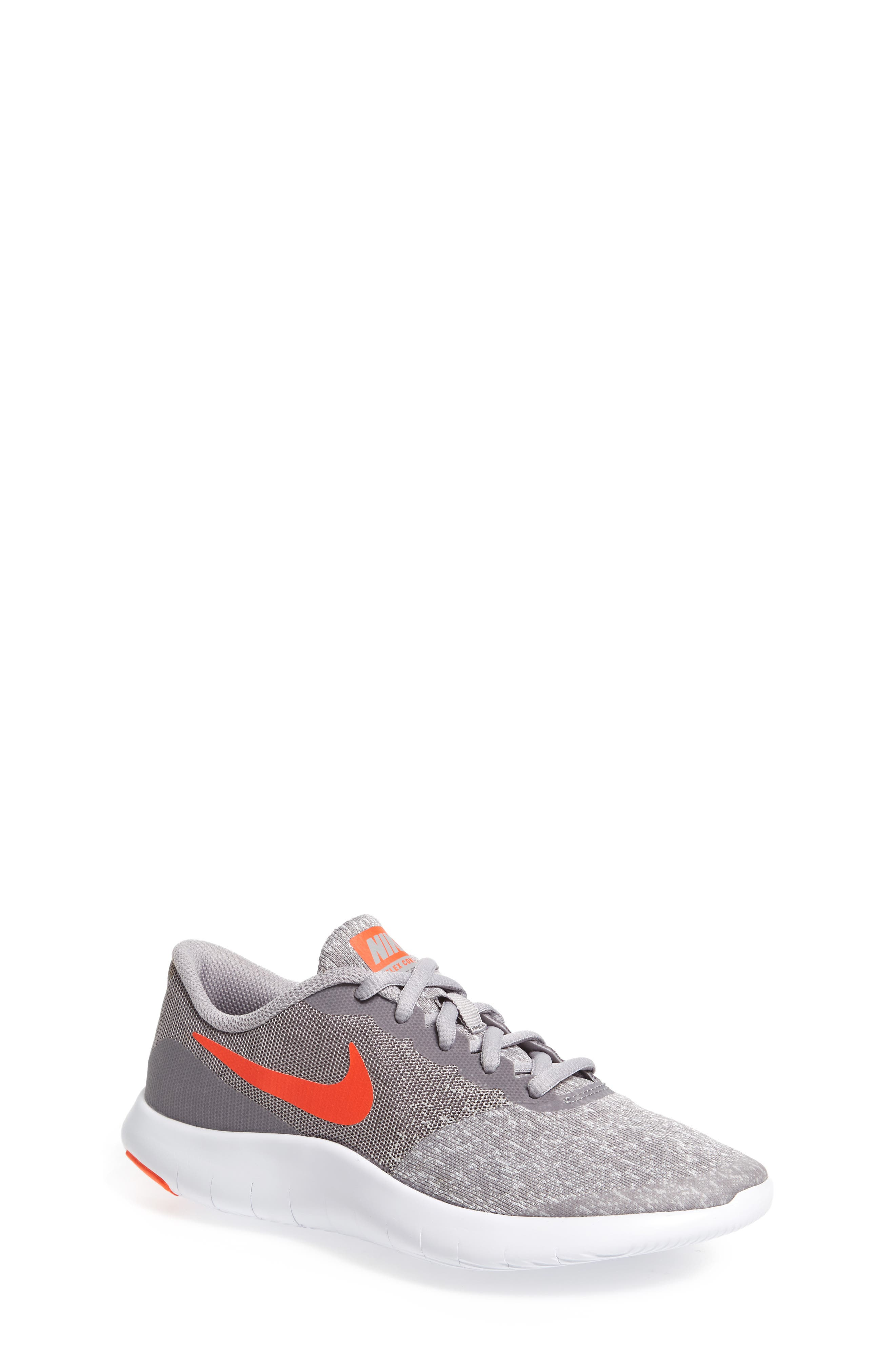 Flex Contact Running Shoe,                         Main,                         color, Atmosphere Grey/ Total Crimson