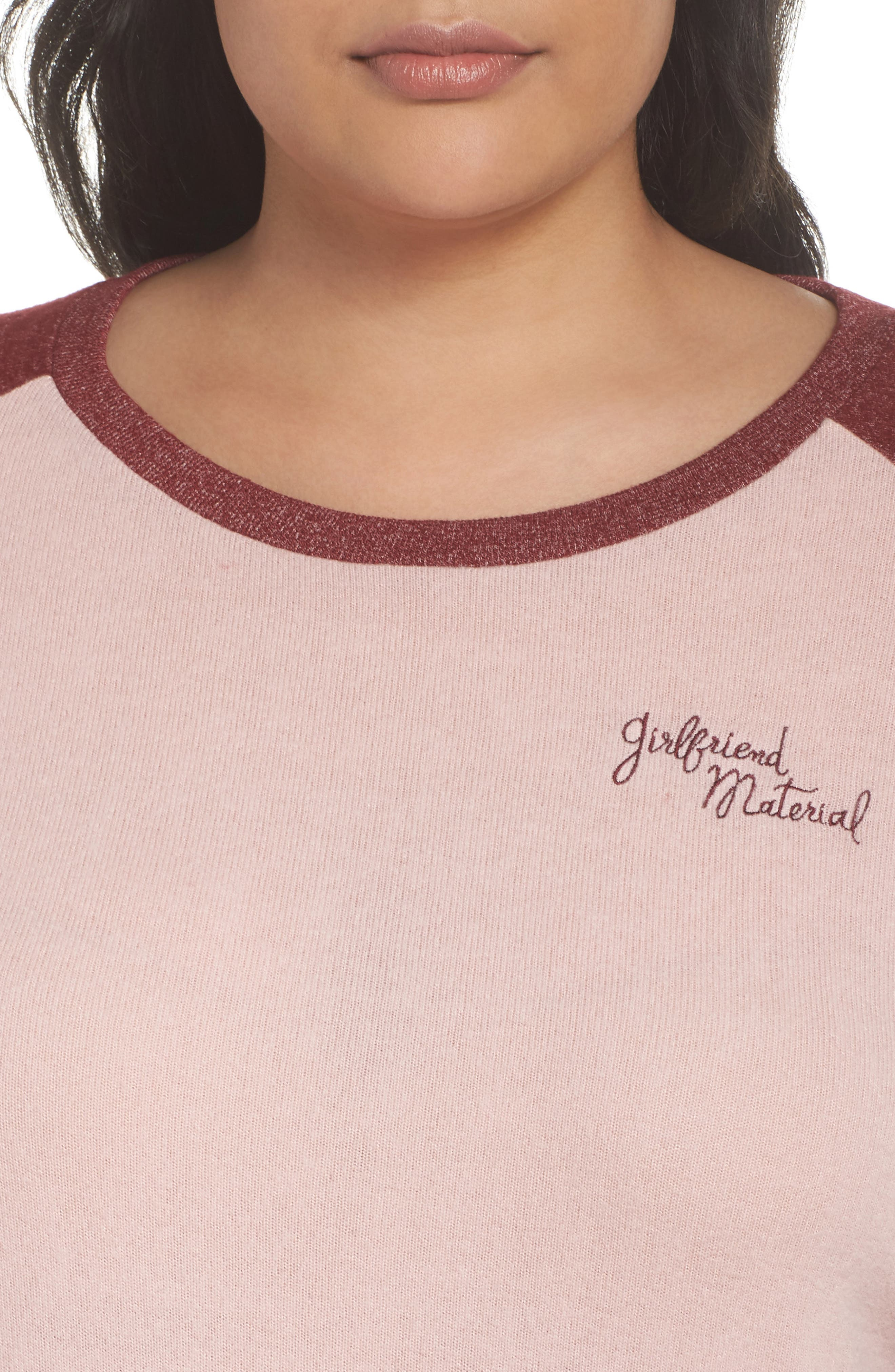 Alternate Image 6  - Make + Model Cozy Crew Lounge Sweater (Plus Size)