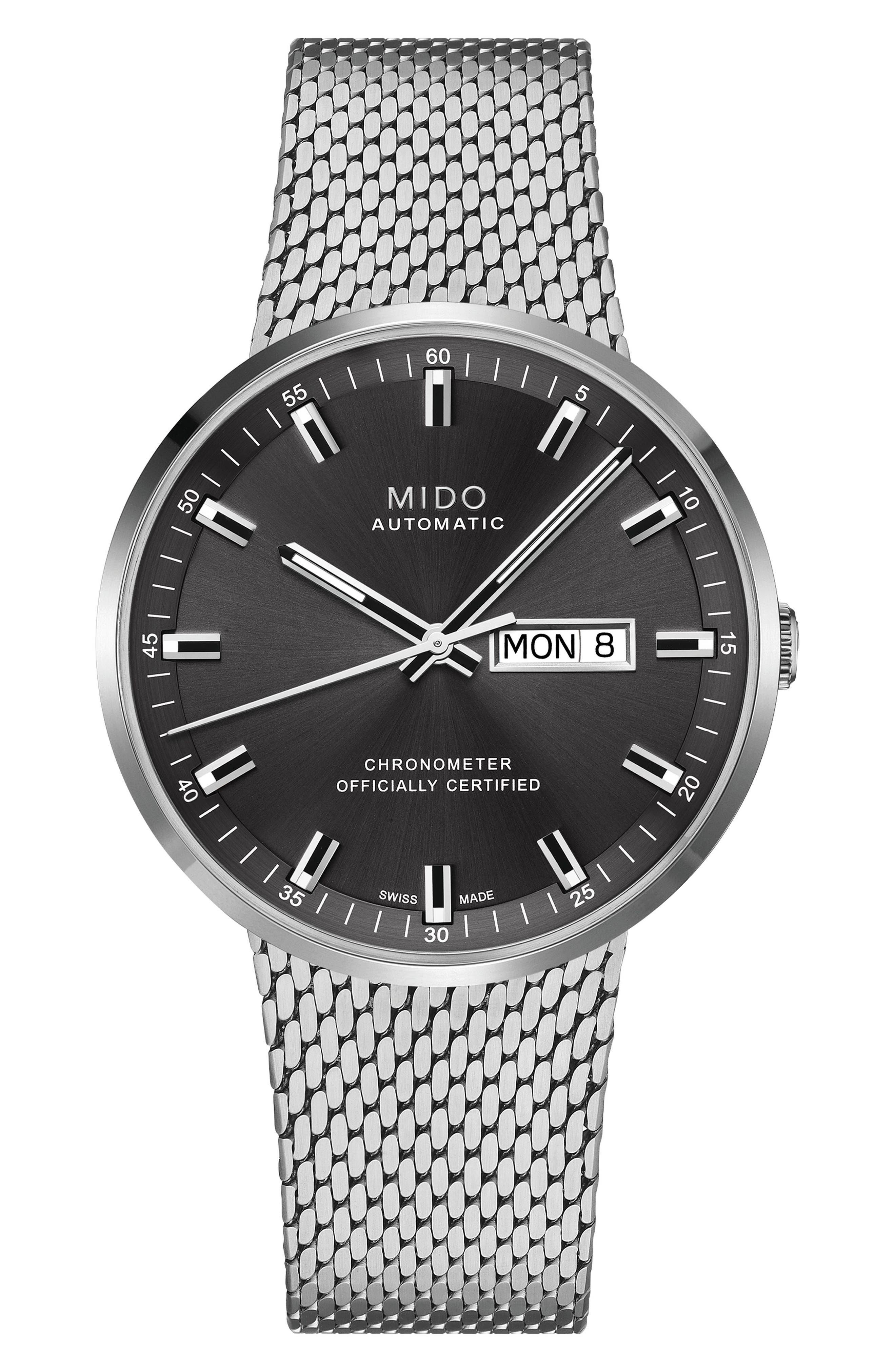 Main Image - Mido Commander II Chronometer Mesh Strap Watch, 42mm