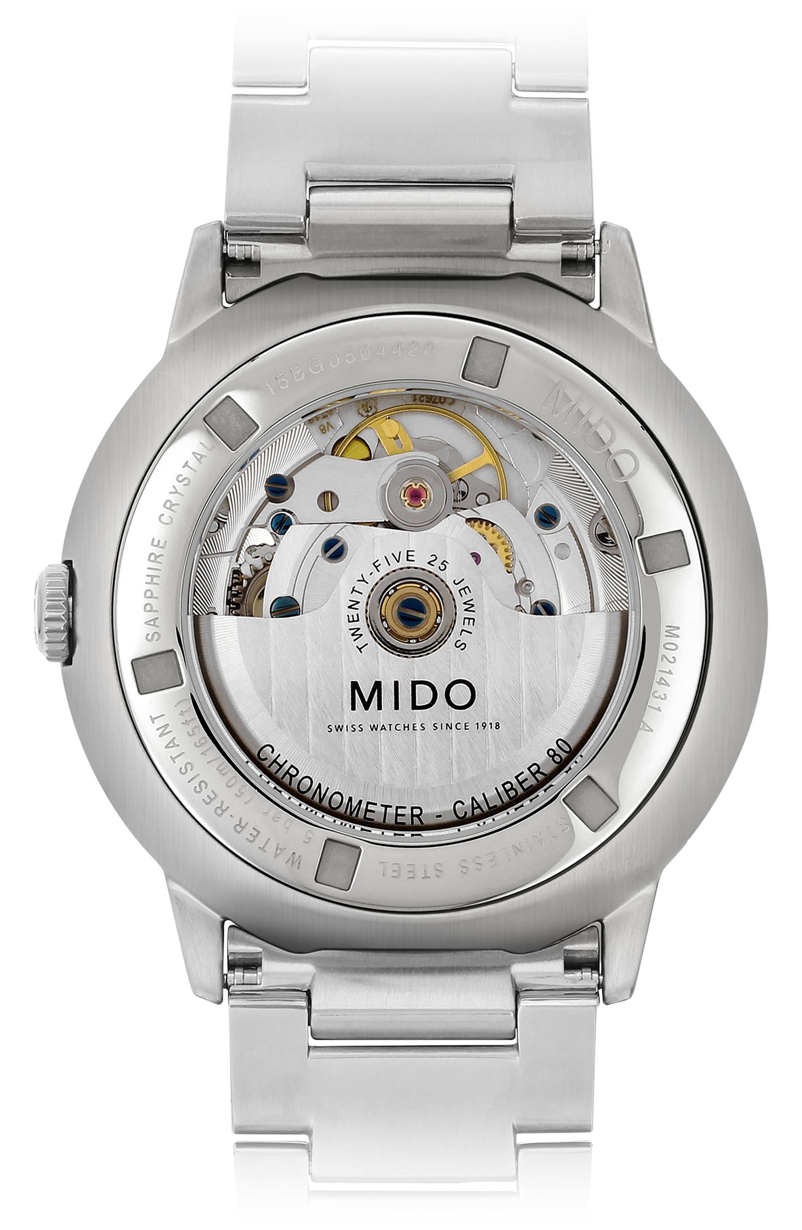 Alternate Image 2  - Mido Commander Chronometer Bracelet Watch, 40mm