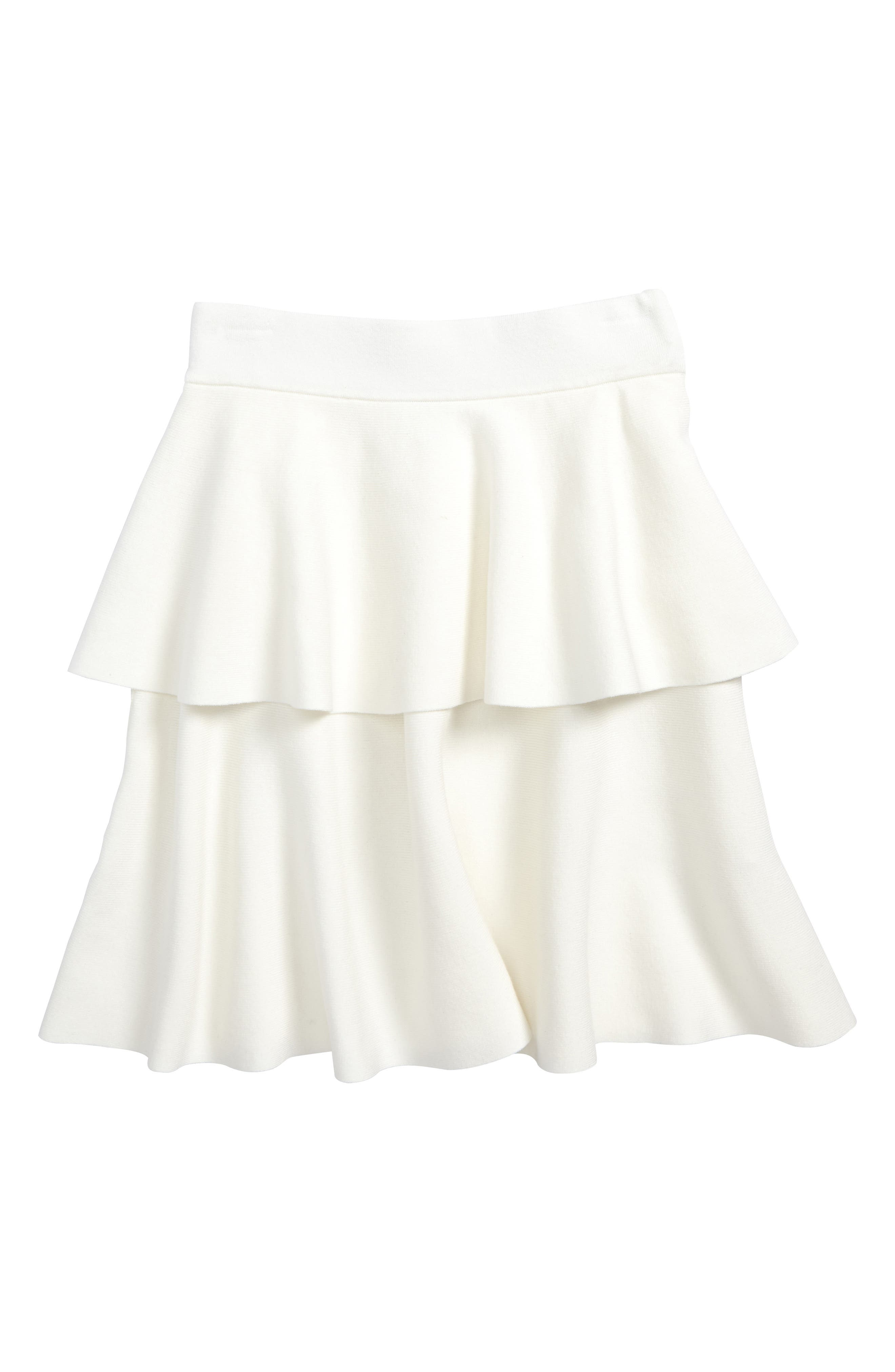 Alternate Image 1 Selected - Milly Minis Tiered Skirt (Big Girls)