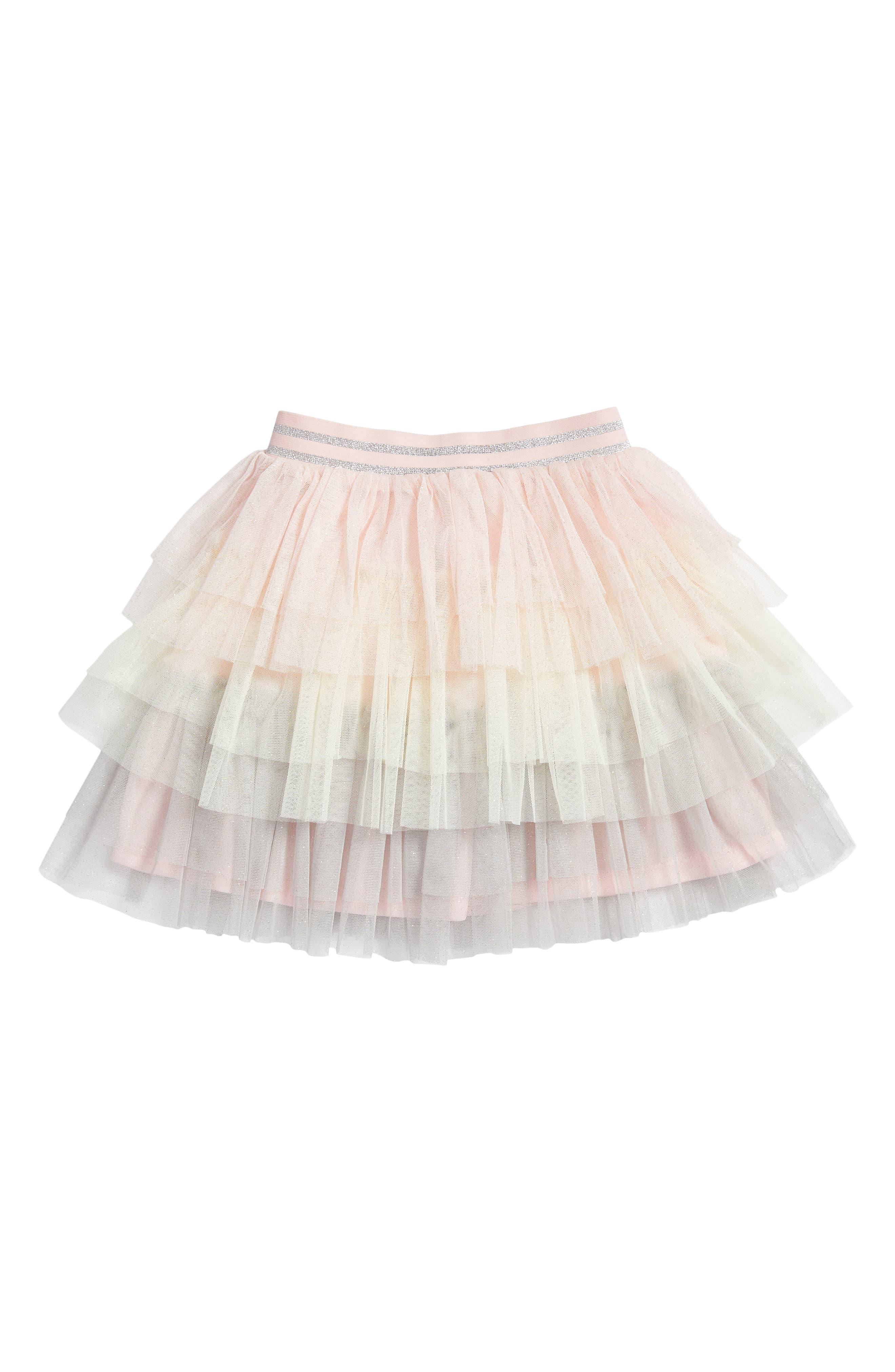 Tiered Tutu Skirt,                         Main,                         color, Pink Multi
