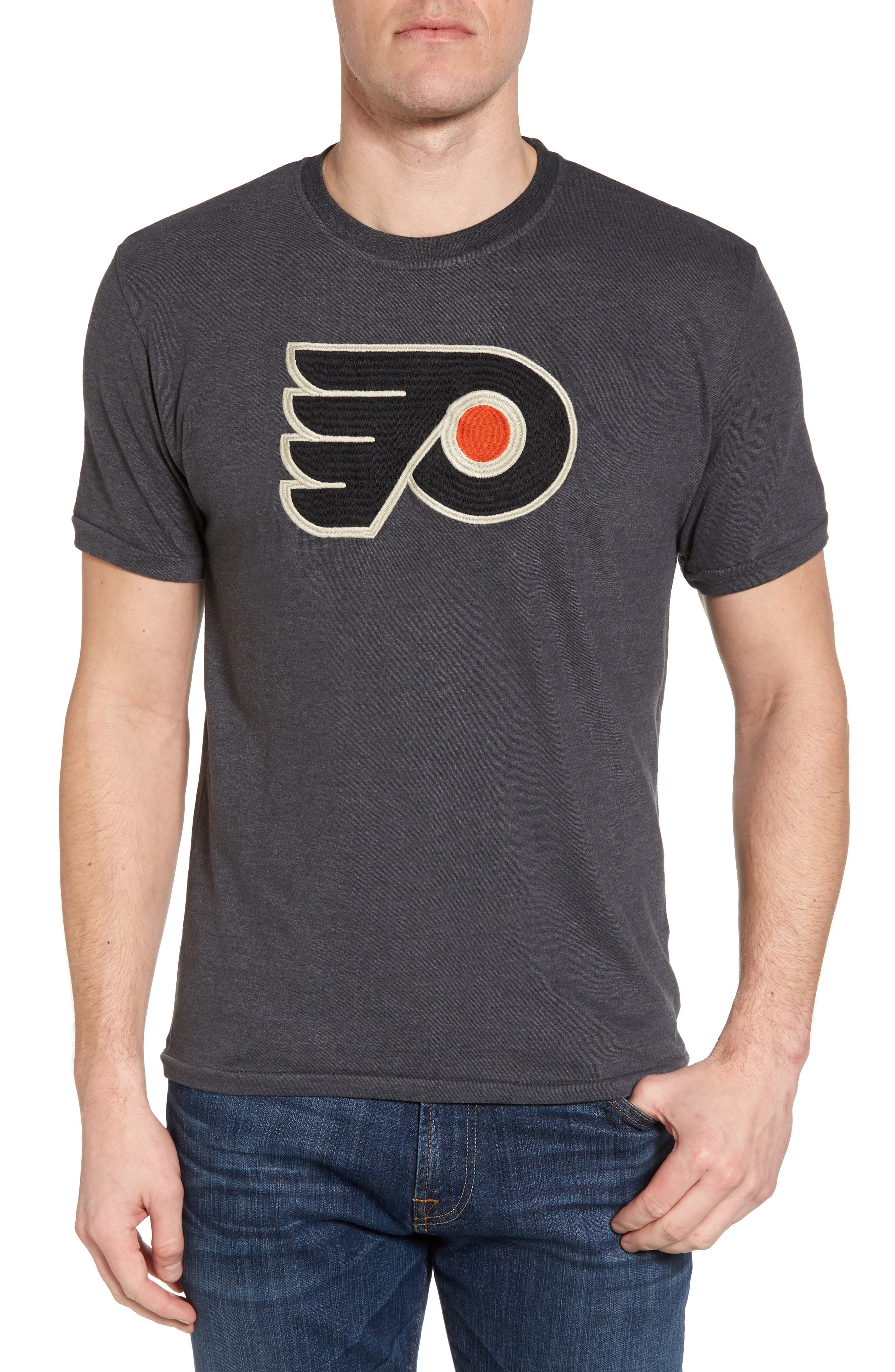 Hillwood Flyers T-Shirt,                         Main,                         color, Heather Black