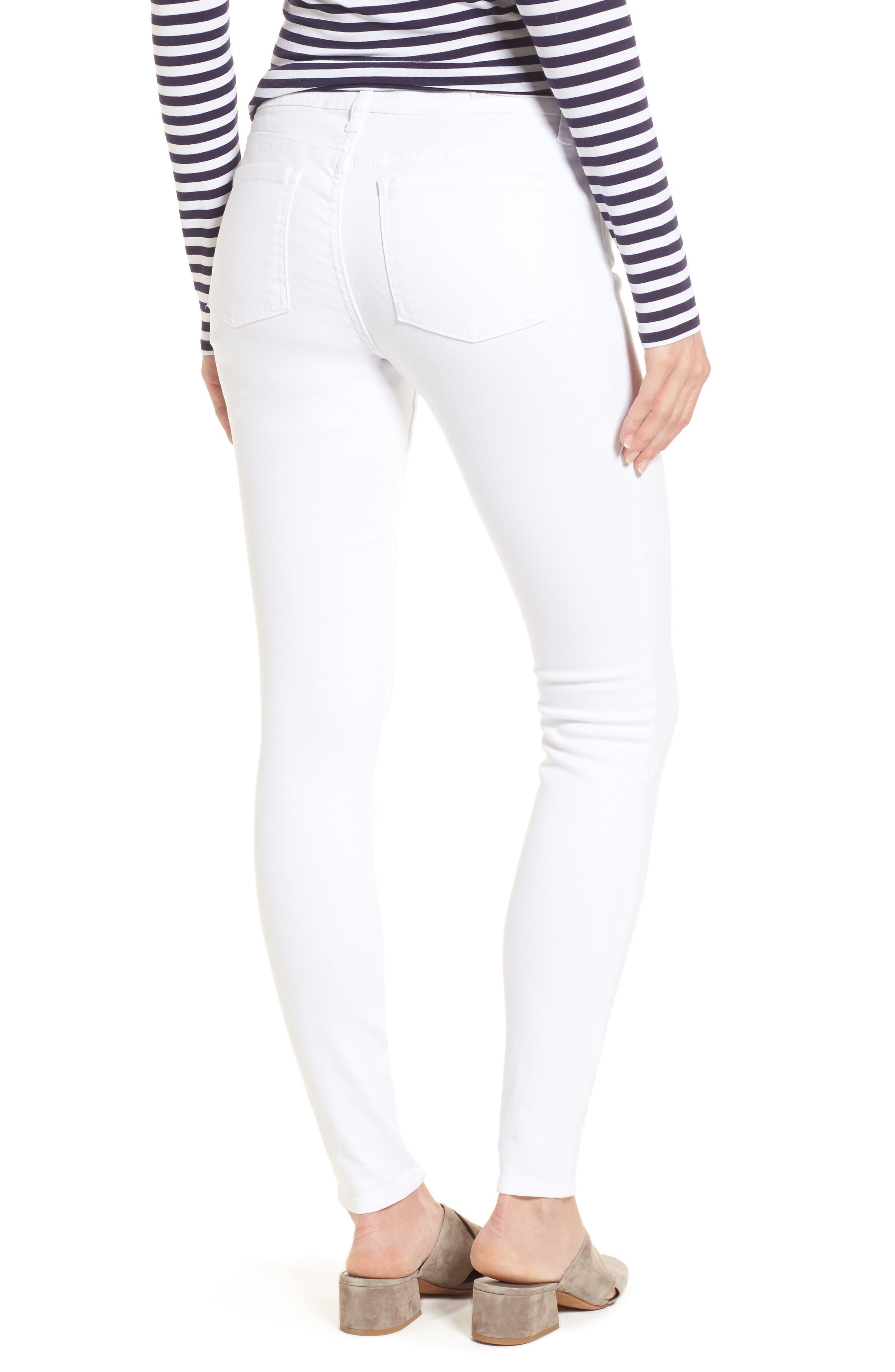 Mia Skinny Jeans,                             Alternate thumbnail 2, color,                             Optic White